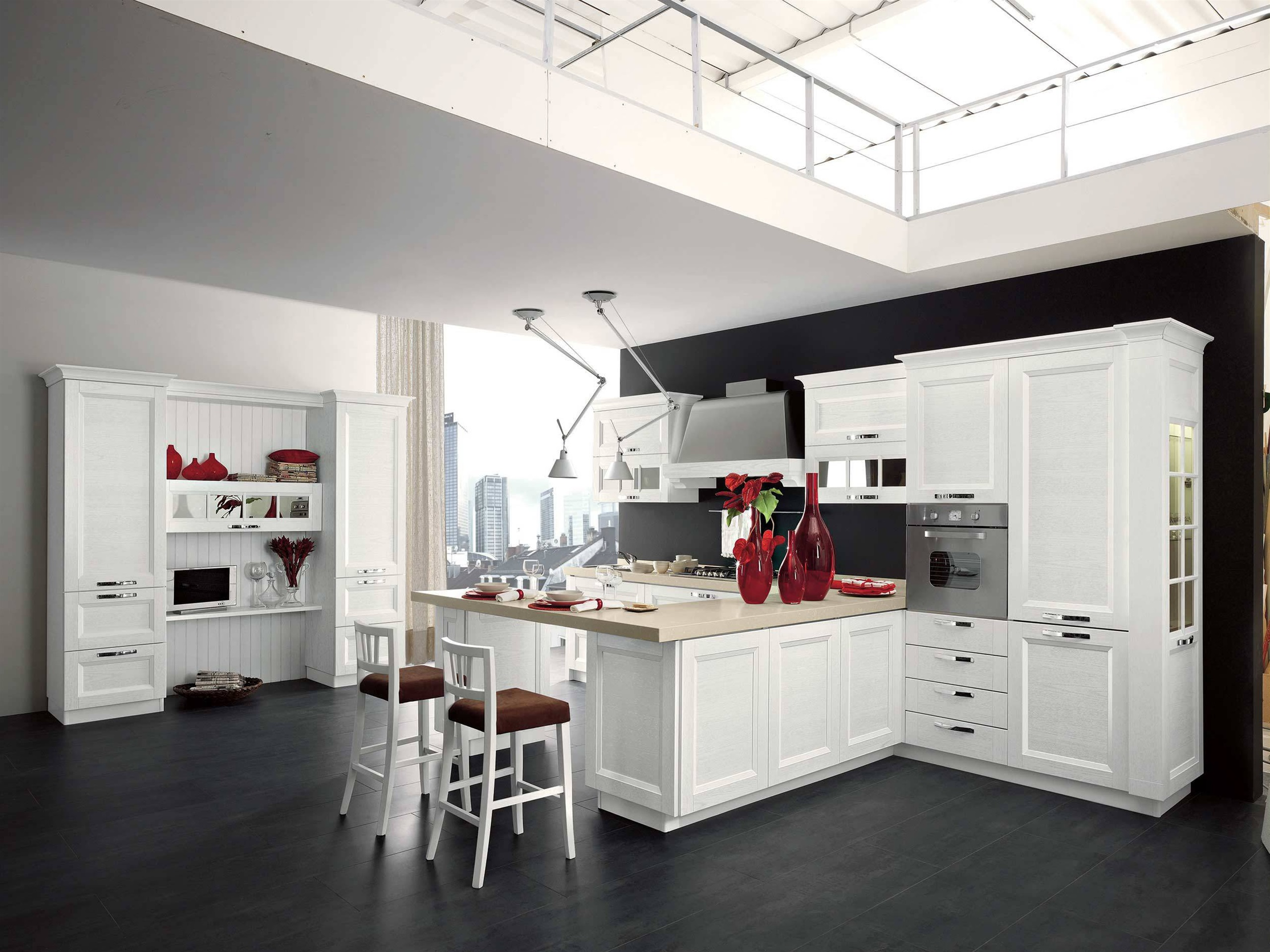 Küche, Interieur, weiße Stil 2560x1920 HD Hintergrundbilder, HD, Bild