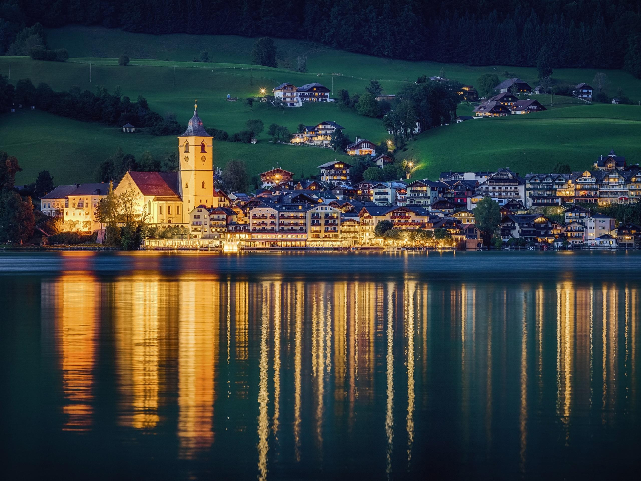 Обои австрия, курорт, ночь, austria. Города foto 13