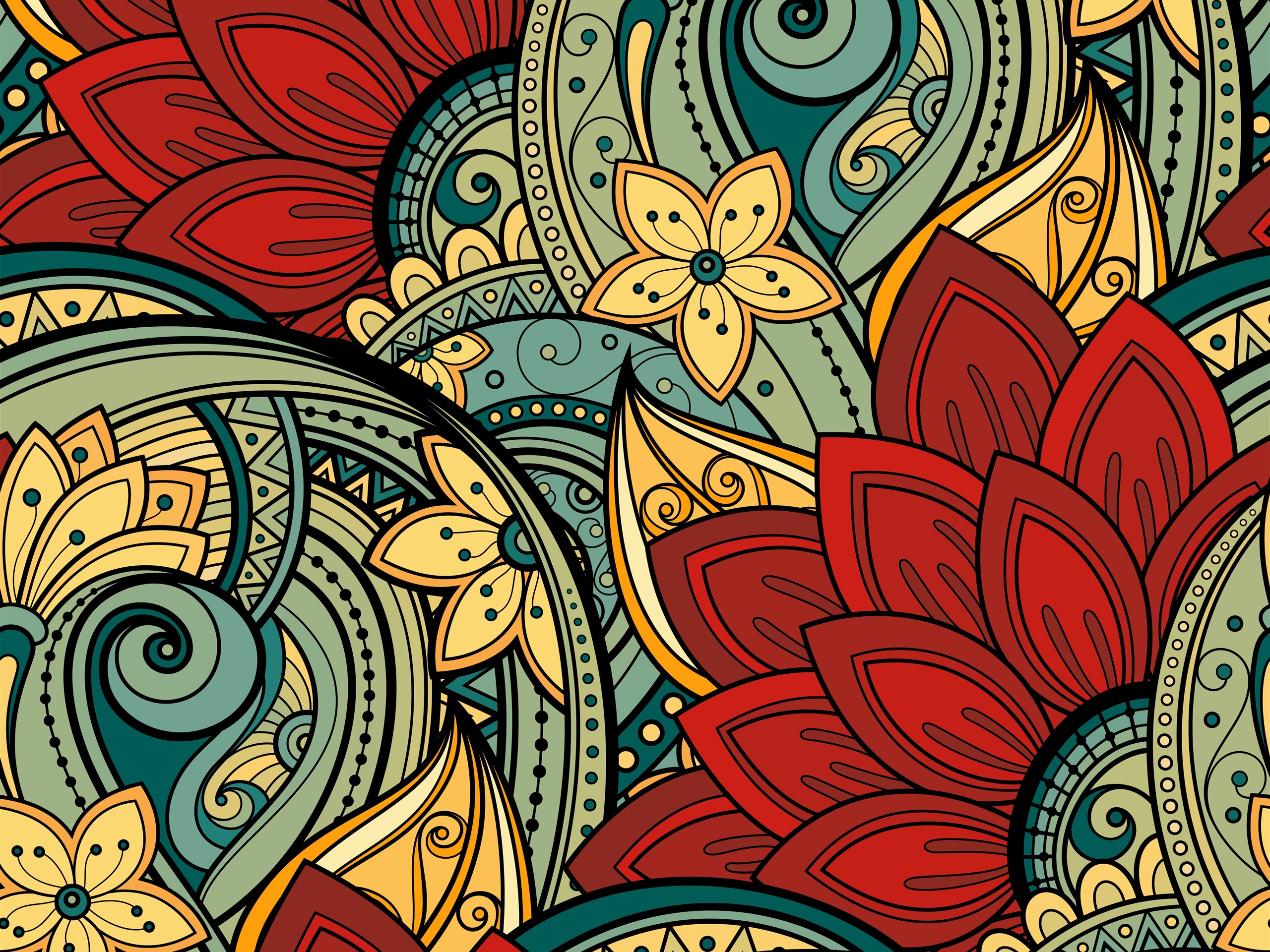 Wallpaper Abstract Flowers Art Picture 5120x2880 Uhd 5k Picture
