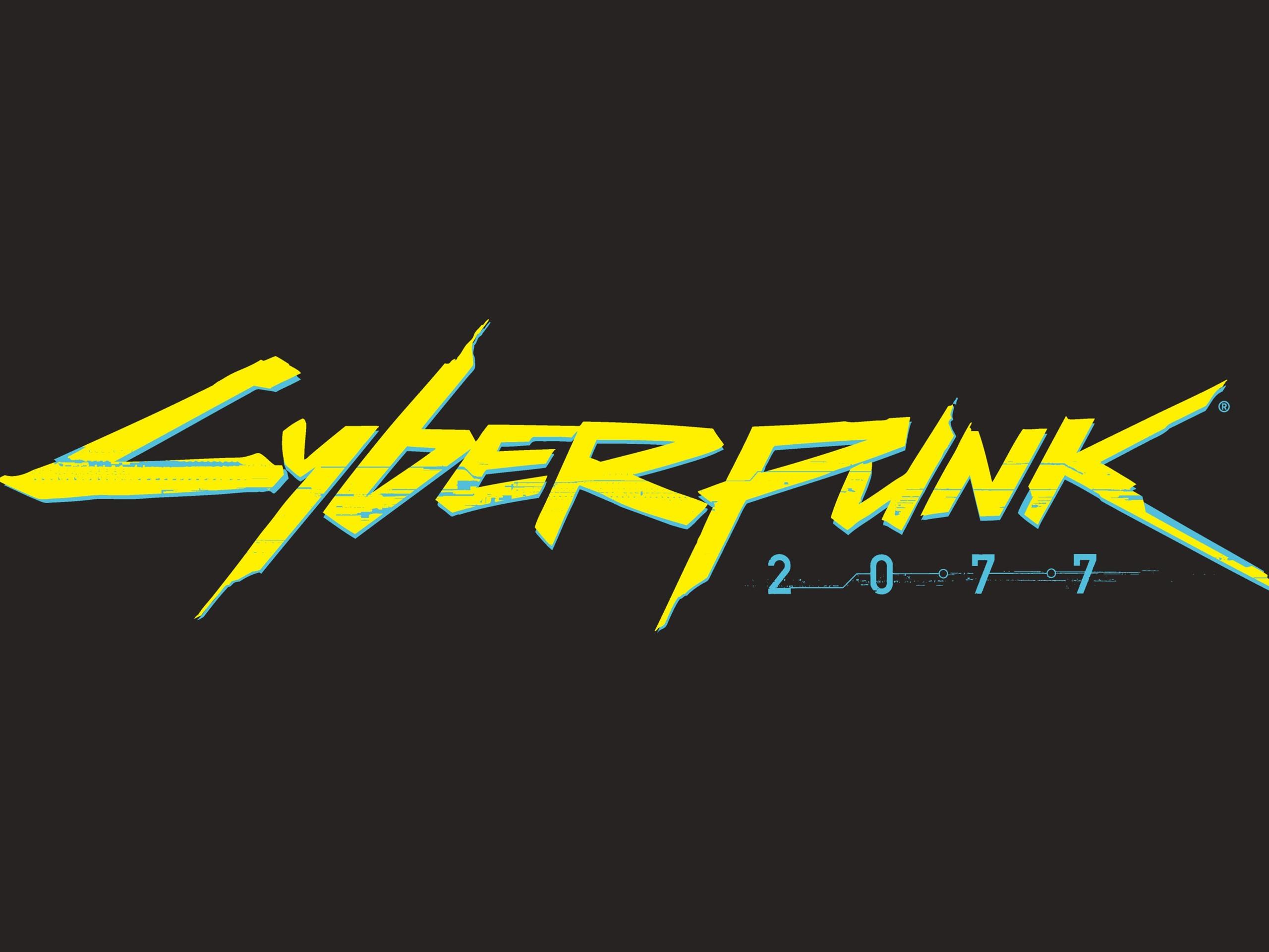 Wallpaper Cyberpunk 2077 logo 3840x2160 UHD 4K Picture, Image