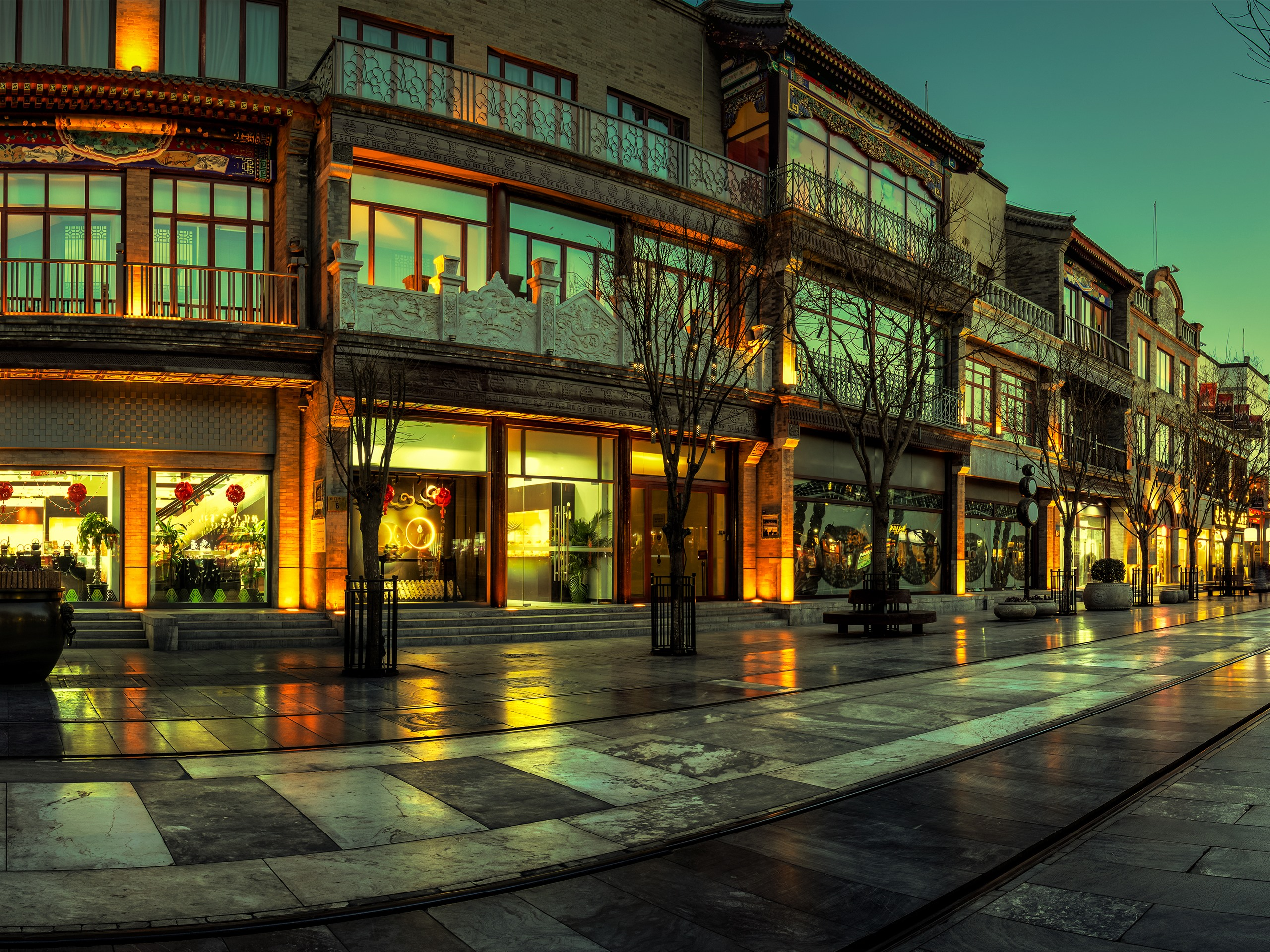 Широкоформатное фото городских улиц
