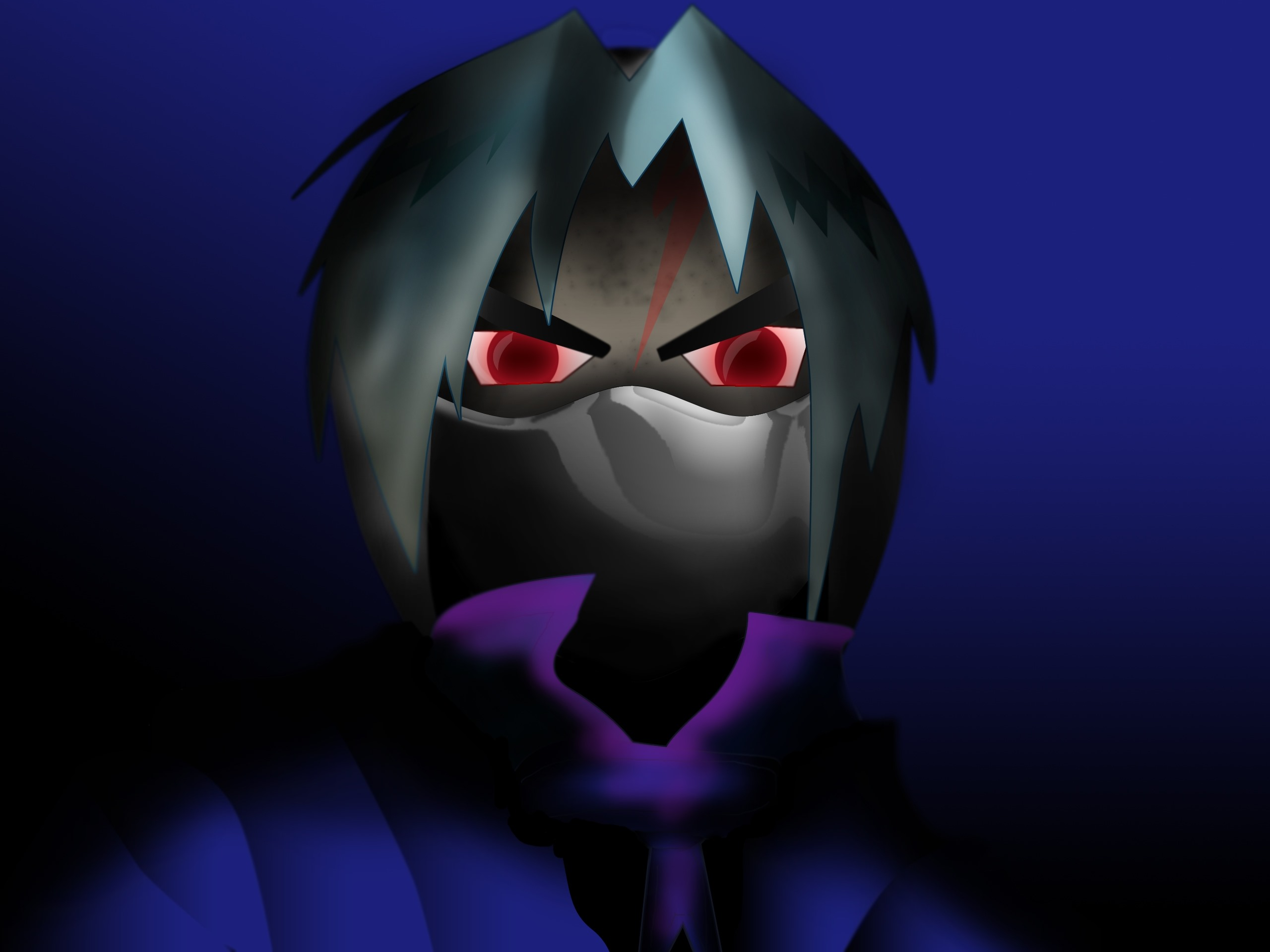 Wallpaper Anime Boy Red Eyes Horror 2560x1920 Hd Picture