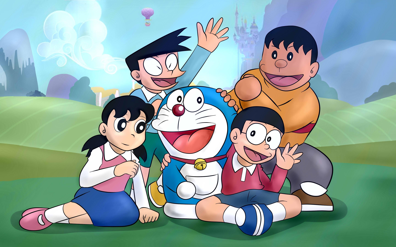 Wallpaper Doraemon, classic anime 2880x1800 HD Picture, Image