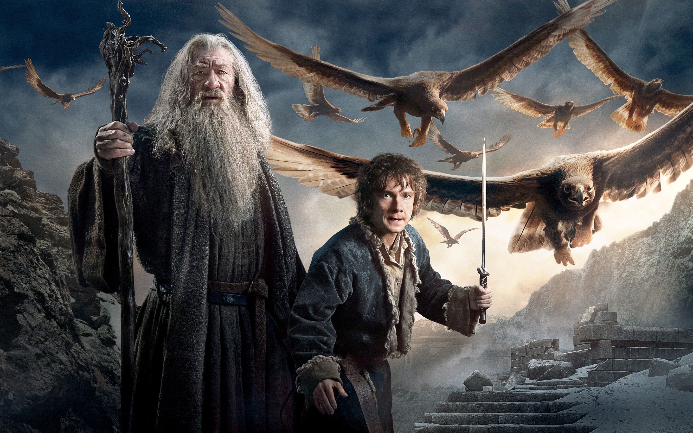 Wallpaper Gandalf and Bilbo Baggins in The Hobbit 3 2880x1800 HD Picture,  Image