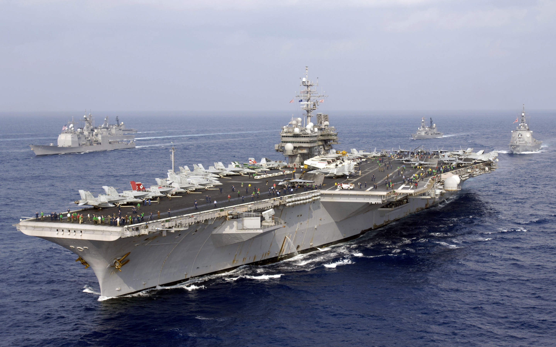 Wallpaper Us Navy American Aircraft Carrier Japan Maritime Self