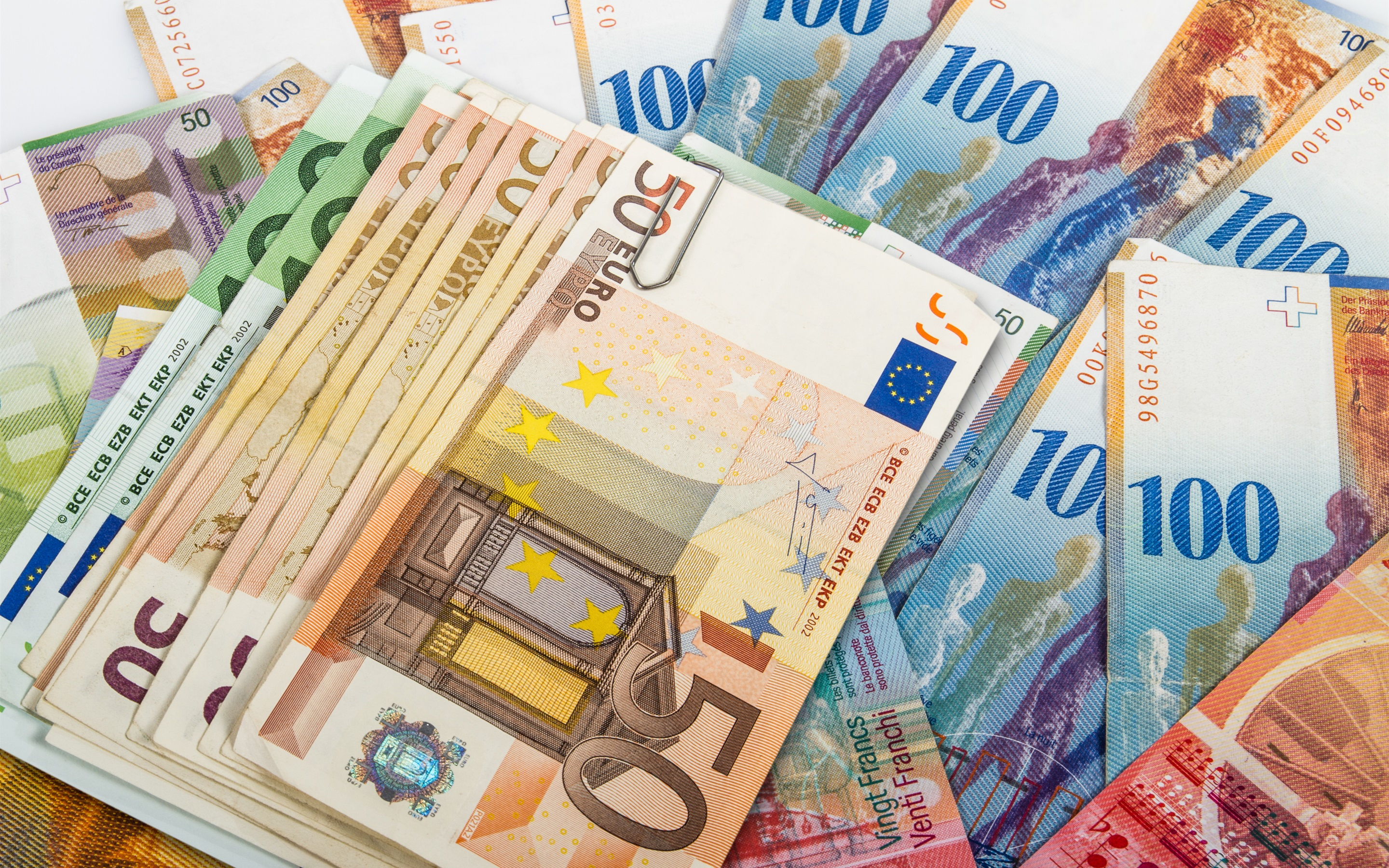 Wallpaper Euro Paper Money 2880x1800 Hd Picture Image