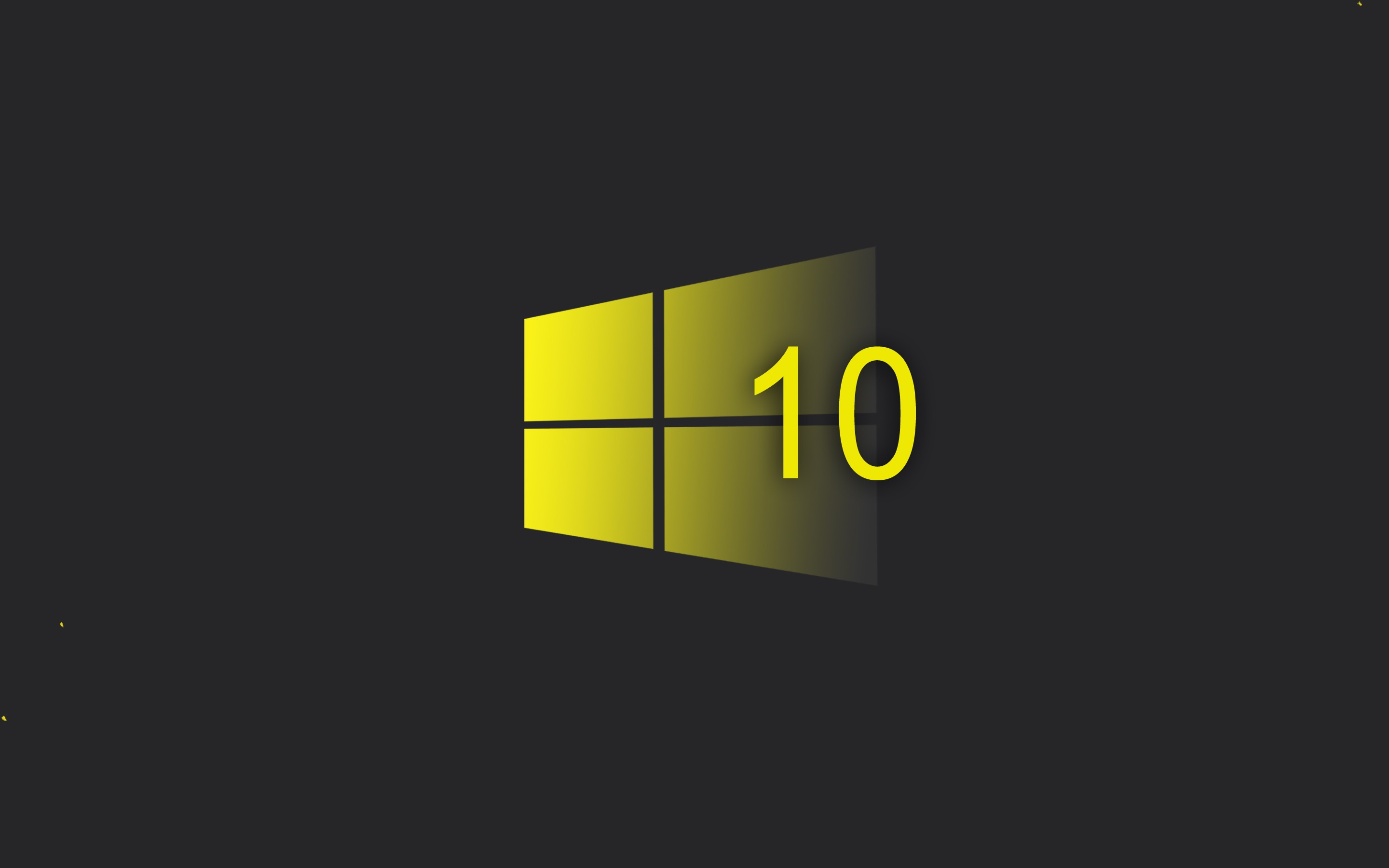 Wallpaper Windows 10 System Yellow Style Logo Black Background