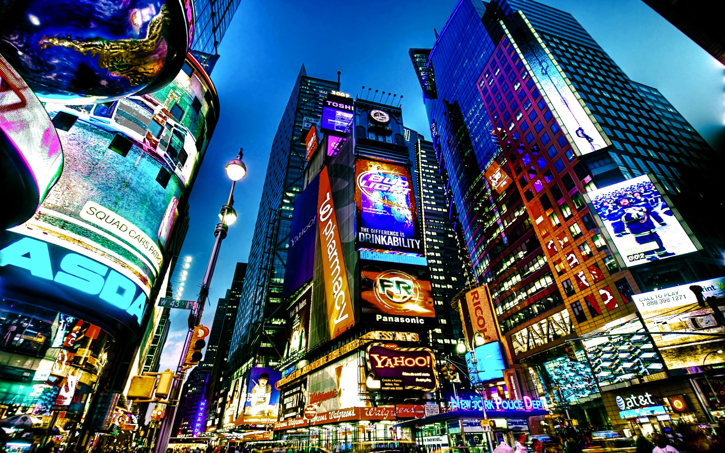 Wallpaper Travel To New York Times Square City Night