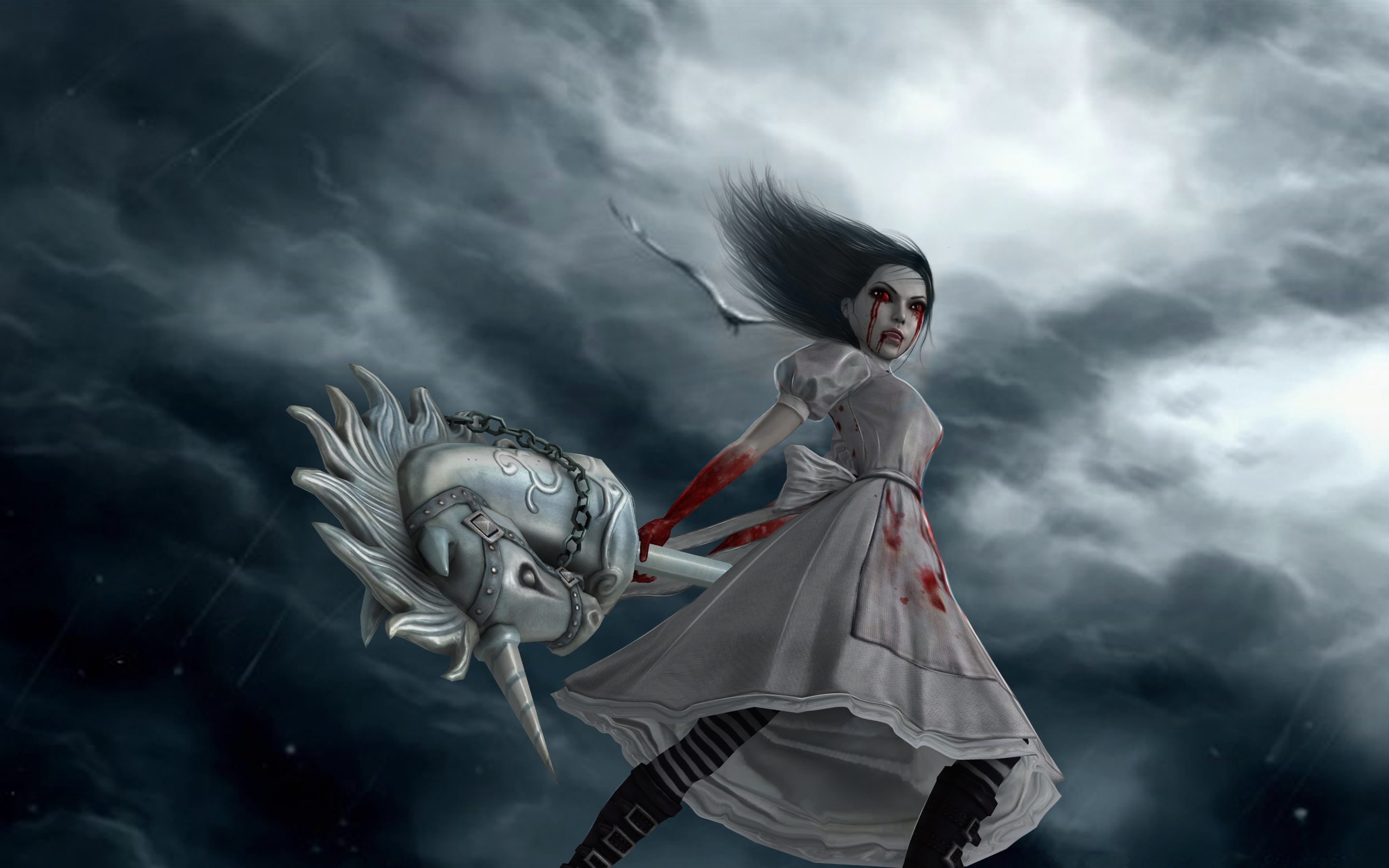 Wallpaper Alice Madness Returns Games Art Picture 2880x1800 Hd