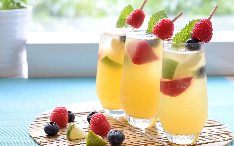 Cocktail, kalte Getränke, Beeren, Glasbecher 2880x1800 HD ...