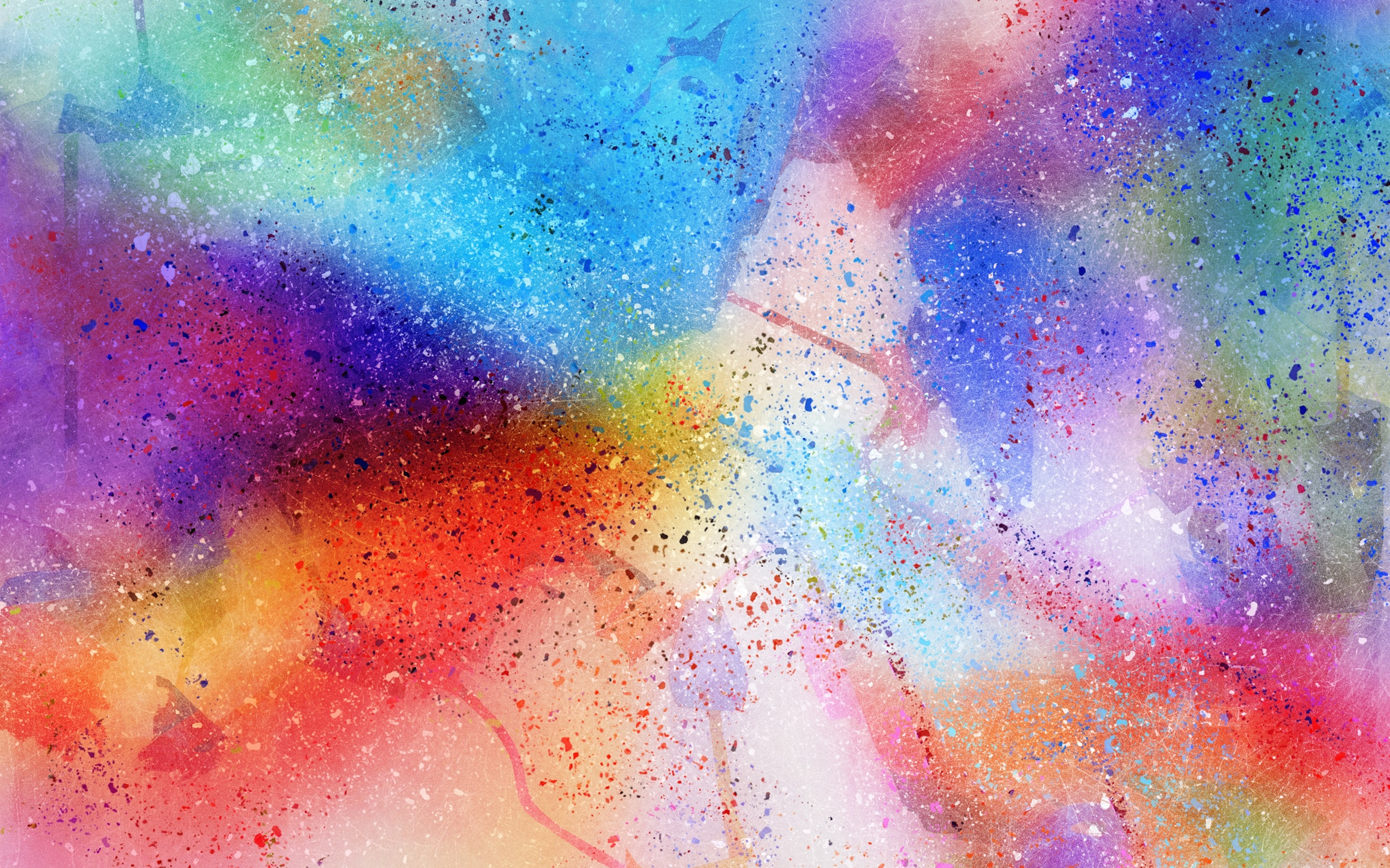 Wallpaper Abstract watercolor background, spots, rainbow ...