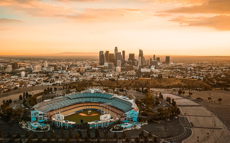 壁紙 ダウンタウン ロサンゼルス 都市 夕暮れ アメリカ x1800 Hd 無料のデスクトップの背景 画像