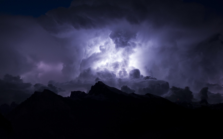 壁紙 夜 嵐 雲 空 稲妻 2880x1800 Hd 無料のデスクトップの背景 画像