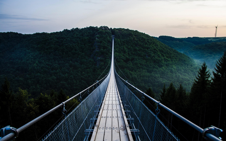 подвесные мосты в горах фото милая