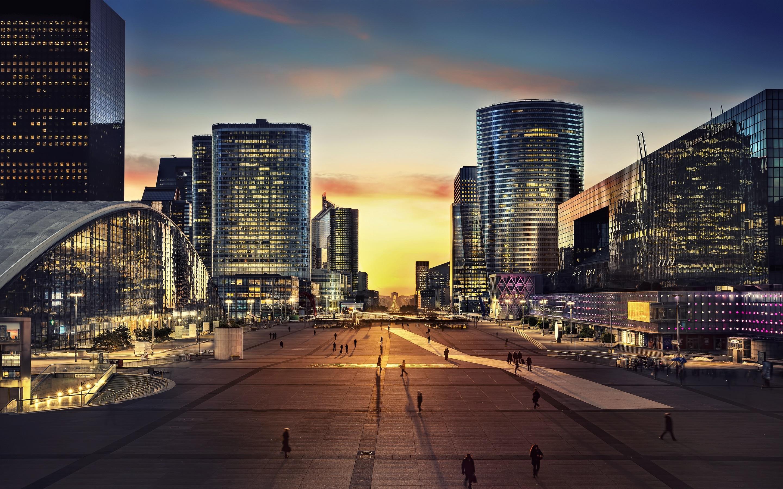 современный городской пейзаж фото ровным