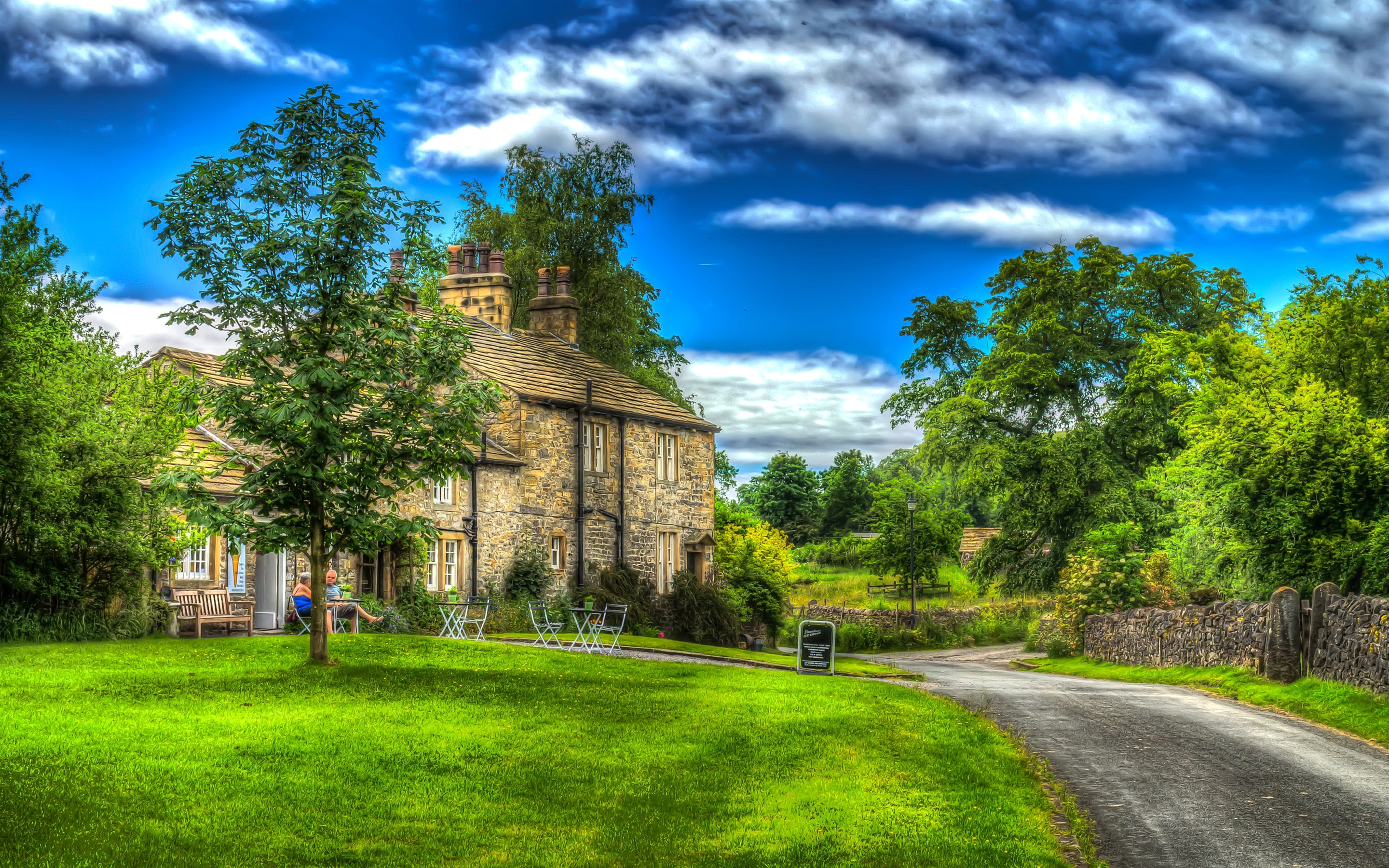 Wallpaper england downham house trees meadow 2880x1800 for Meadow house