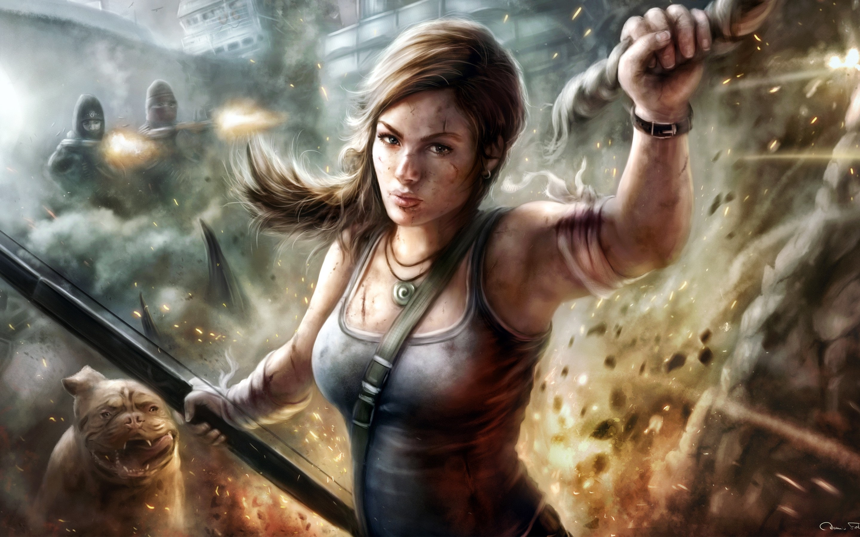 Wallpaper Lara Croft Tomb Raider Video Game 2880x1800 Hd