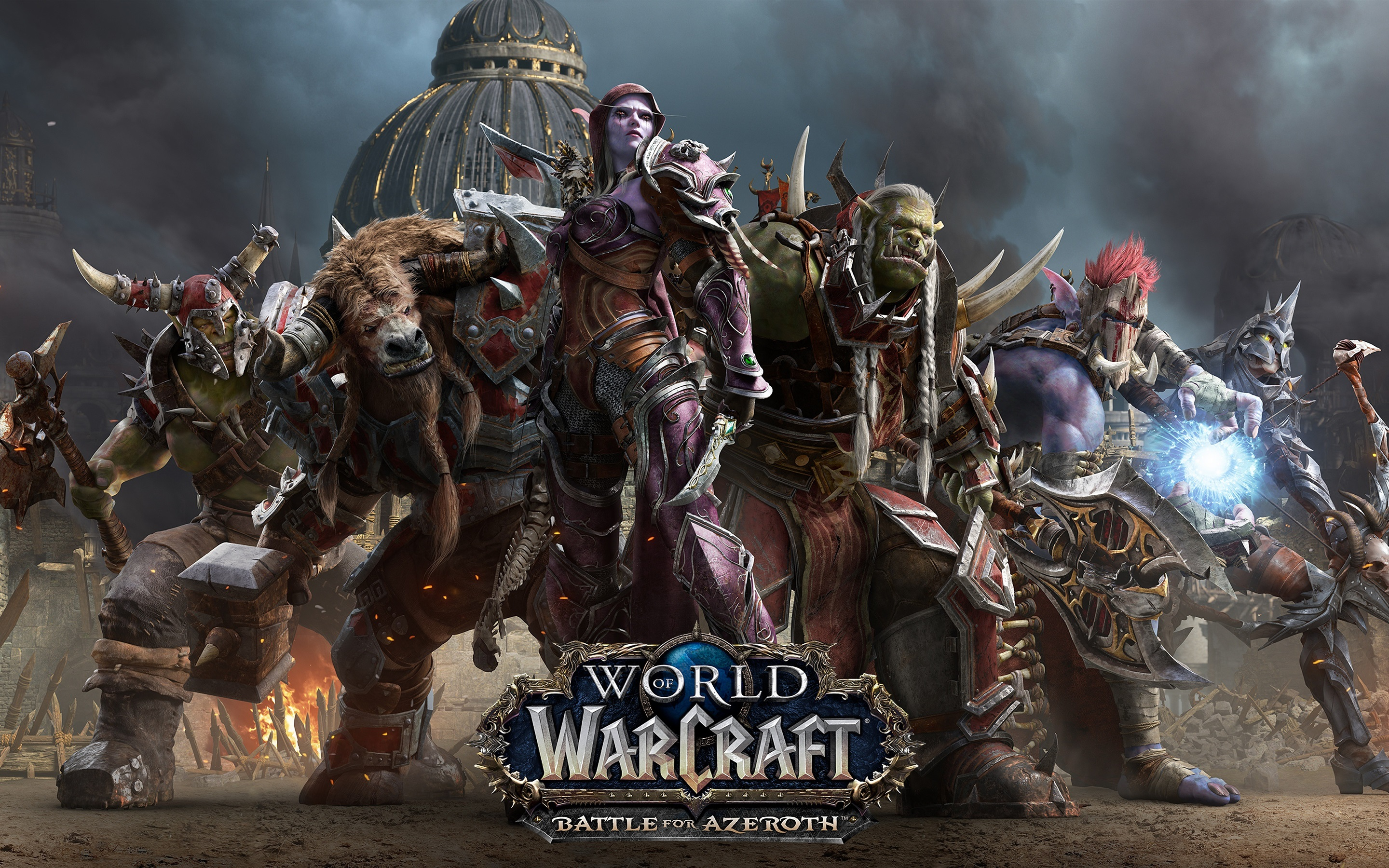 Wallpaper World of Warcraft: Battle for Azeroth, hot game ...
