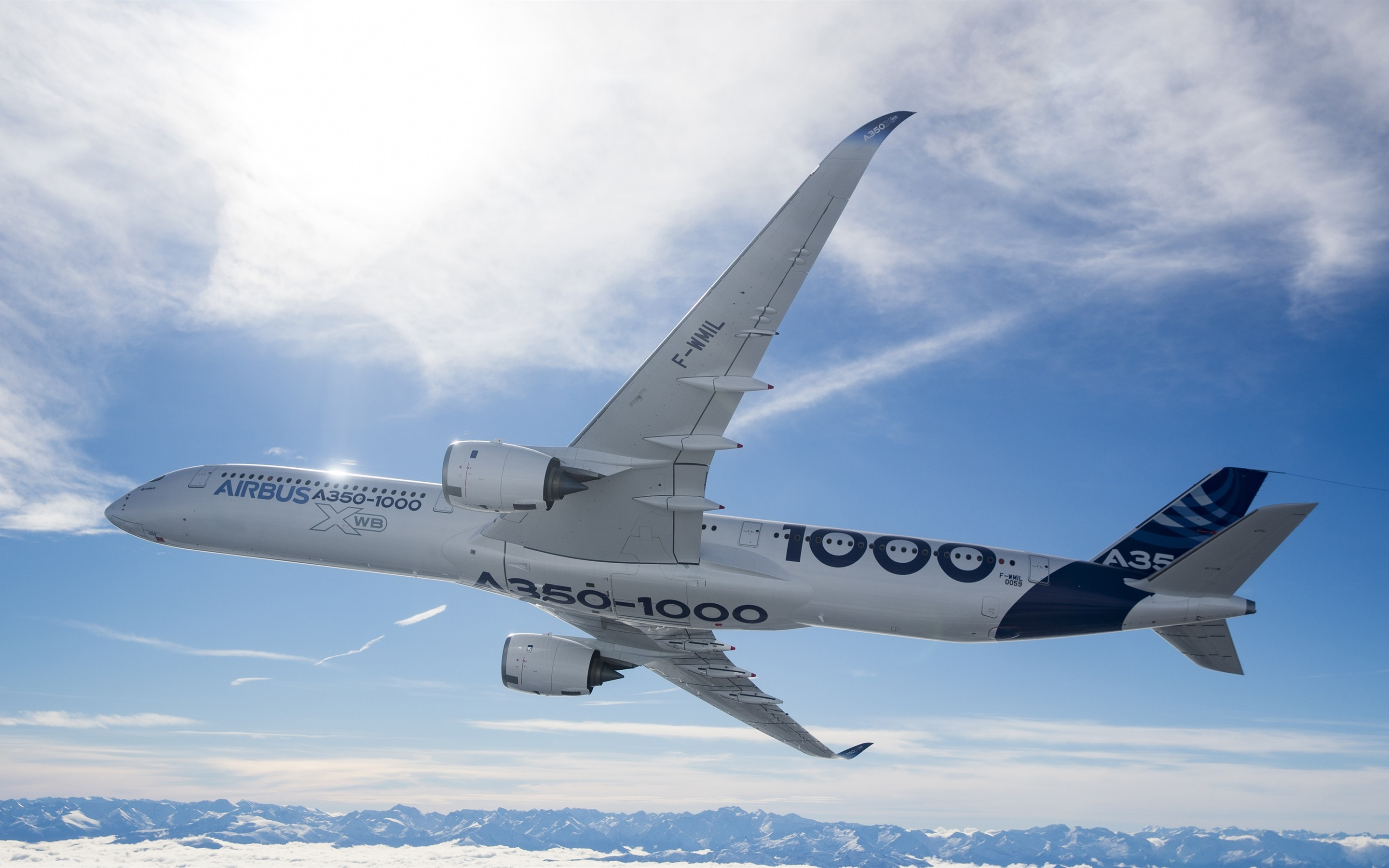 Wallpaper Airbus A350 1000 Plane 2880x1800 Hd Picture Image