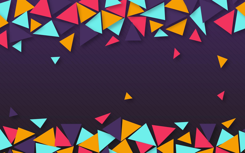 Fondos De Pantalla Triángulo Colorido, Geométrico