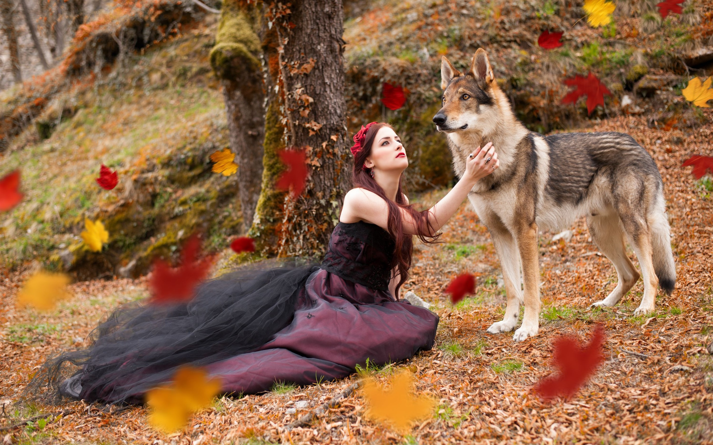 Волки С Девушкой Обои