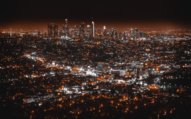 Фото лос анджелес ночью