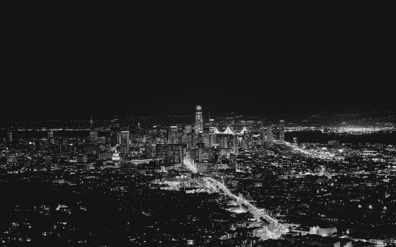 Papéis De Parede San Francisco Eua Noite Da Cidade Luzes