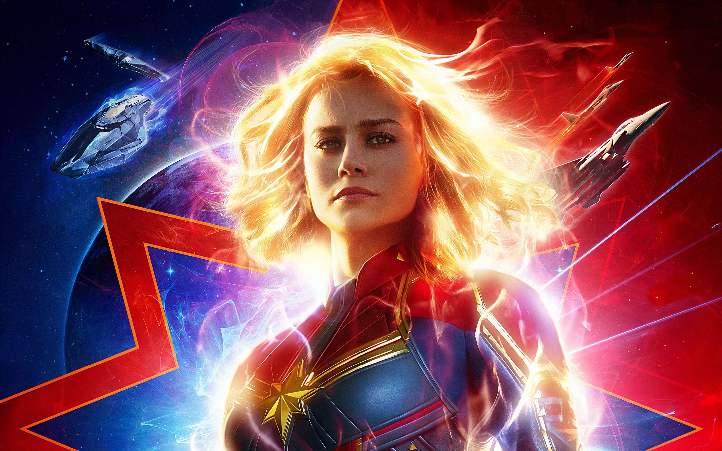 Movie Poster 2019: Wallpaper Captain Marvel 2019 5120x2880 UHD 5K Picture, Image
