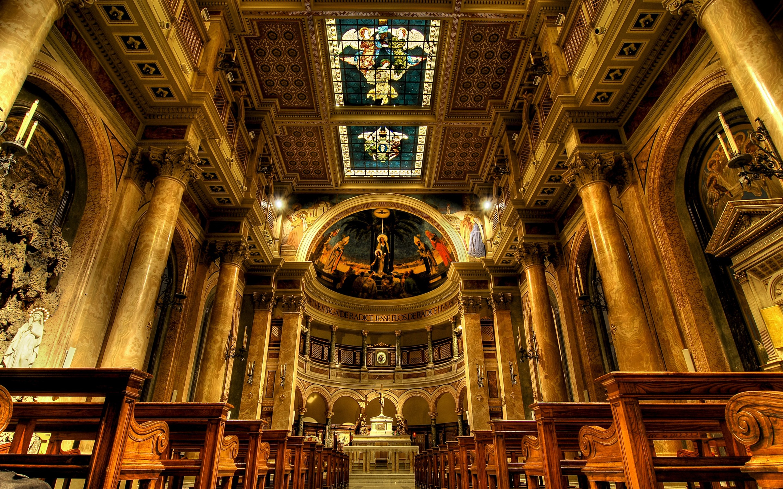Wallpaper Italy Rome Church Interior 2880x1800 Hd Picture