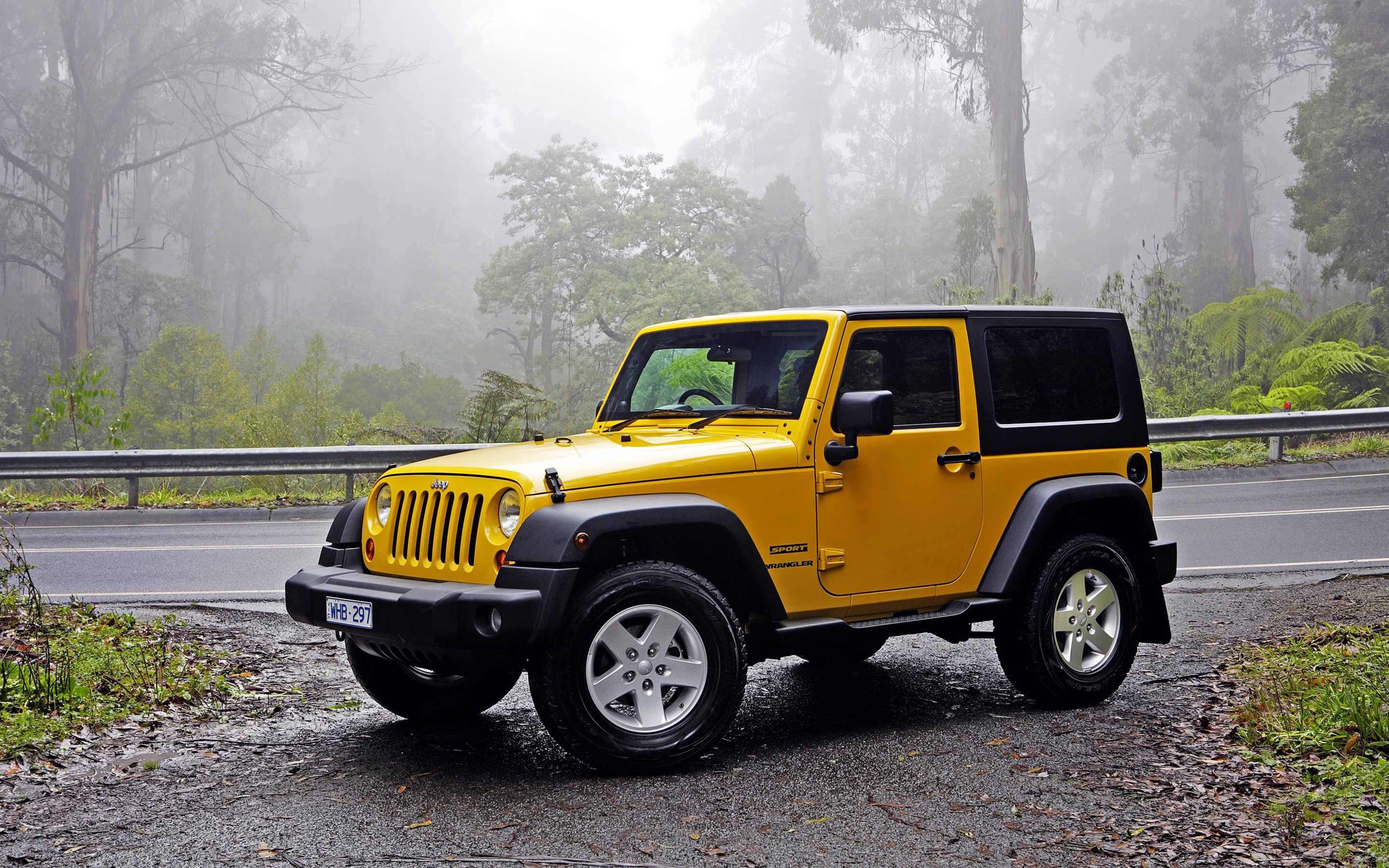 Wallpaper Jeep Wrangler Yellow Car 2880x1800 Hd Picture Image