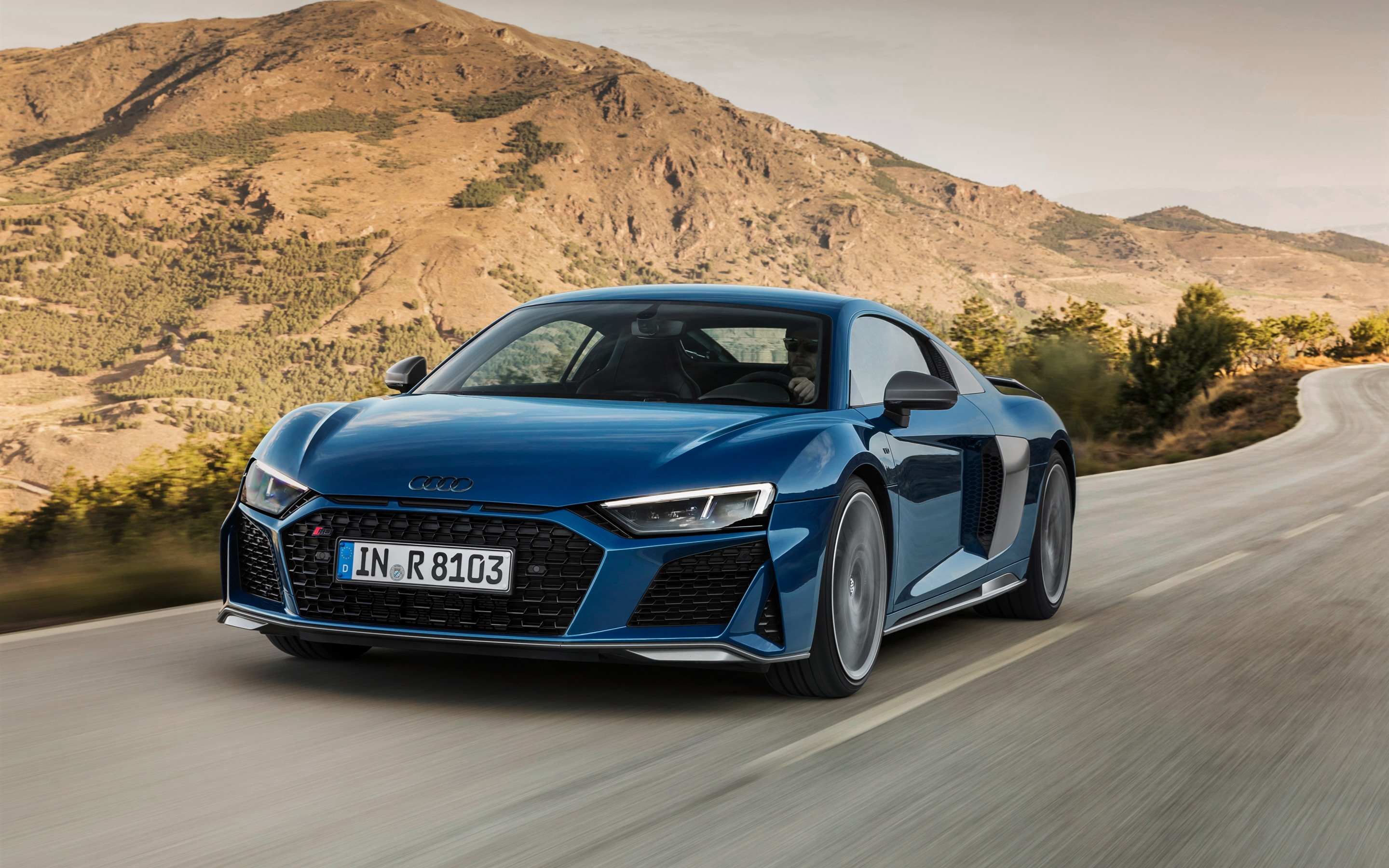Audi R8 2019 Blue Car Speed 1242x2688 Iphone 11 Pro Xs Max Wallpaper Background Picture Image