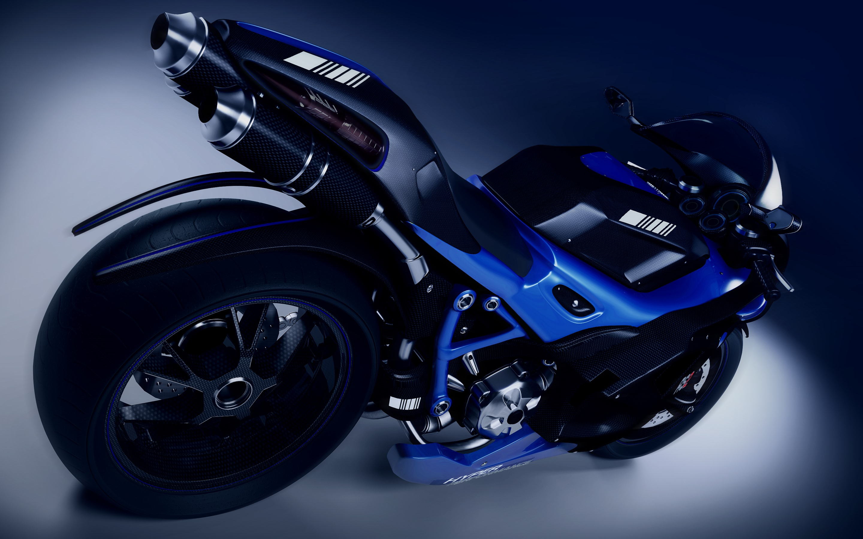 Wallpaper Blue Motorcycle Wheel 2880x1800 Hd Picture Image