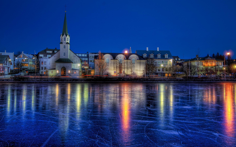 Обои рейкьявик, Исландия, ночь, свет. Города foto 7