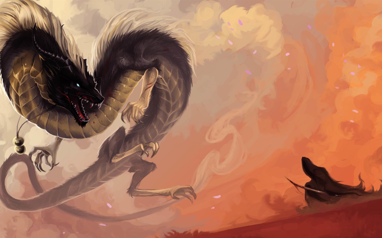 Fonds D écran Dragon Chinois Animal Fantastique 3840x2160