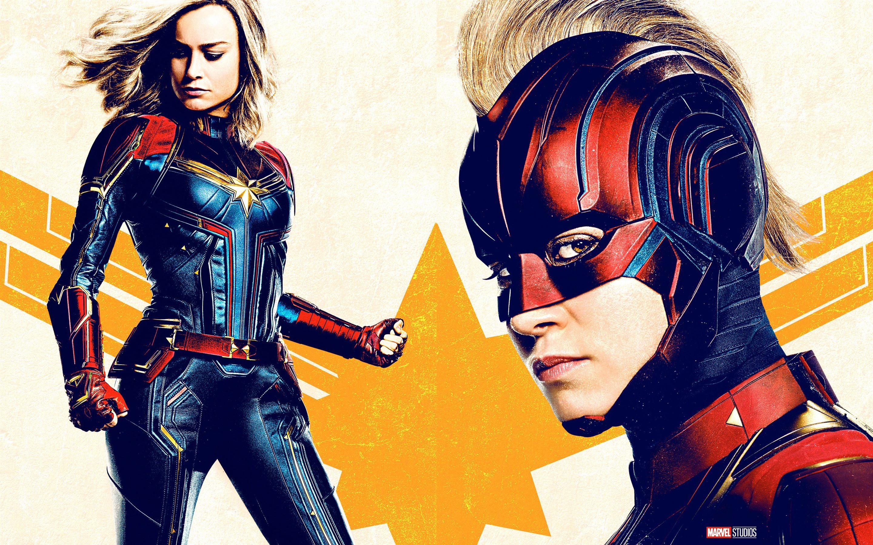壁紙 キャプテン マーベル 女の子 スーパーヒーロー 2880x1800 Hd