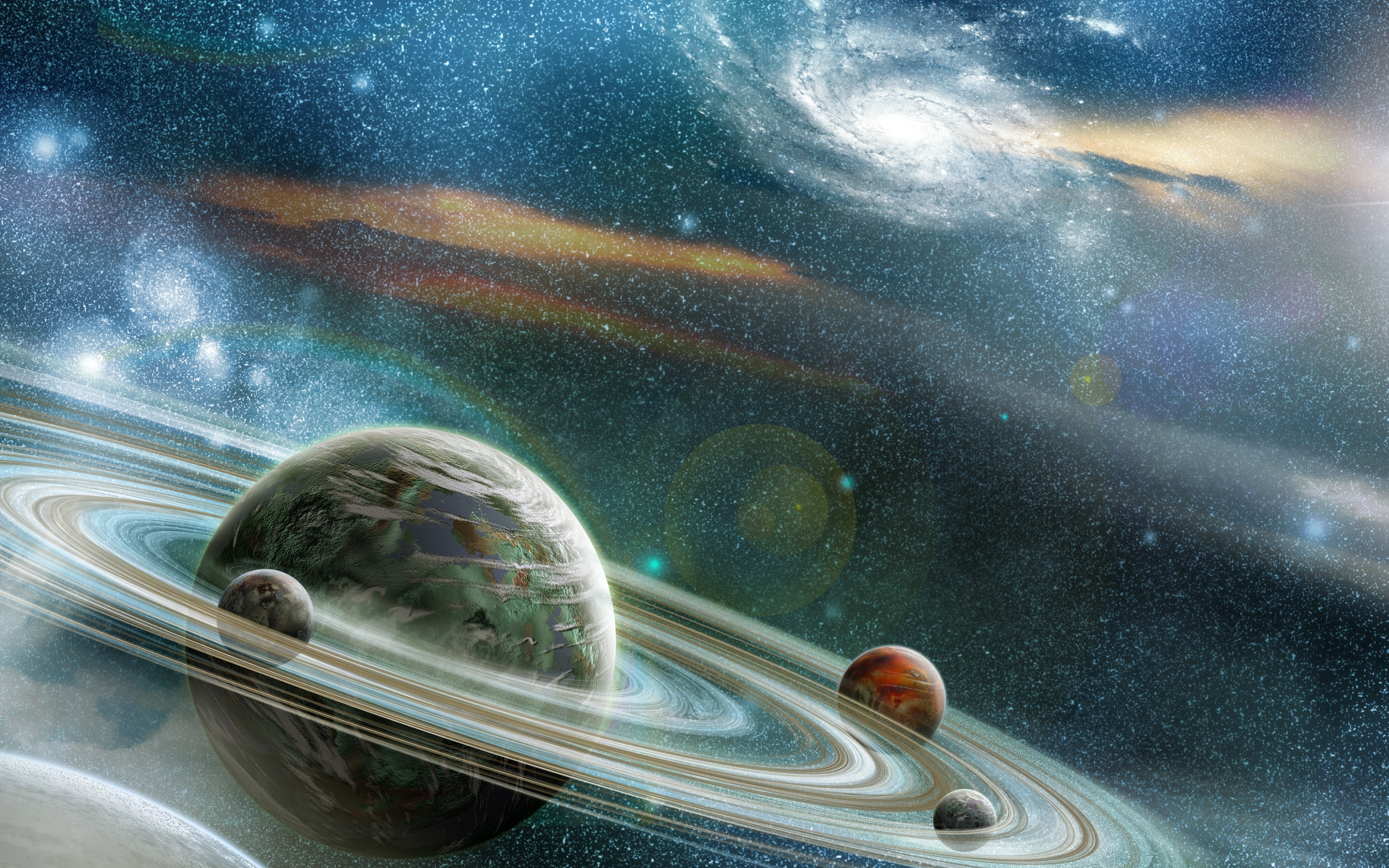 universe solar system stars and galaxies - HD2560×1920
