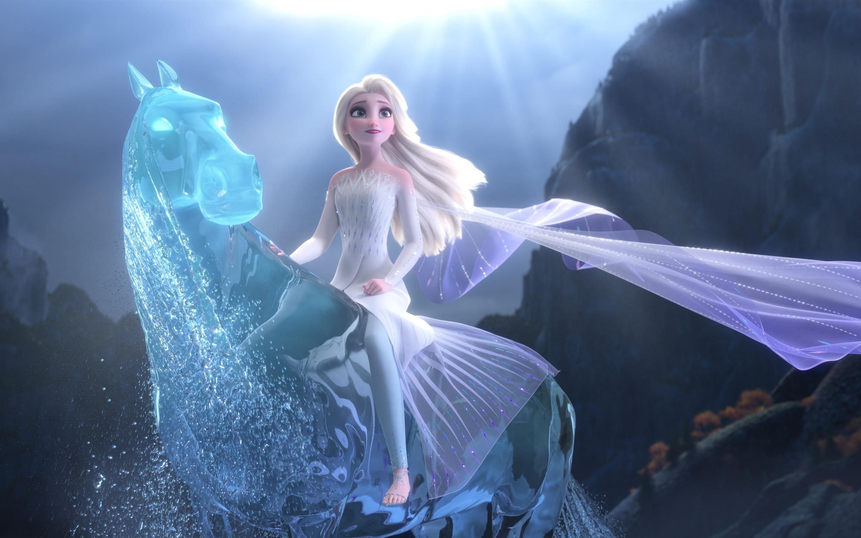 Wallpaper Elsa Frozen 2 Magic Water Horse 3840x2160 Uhd 4k Picture Image