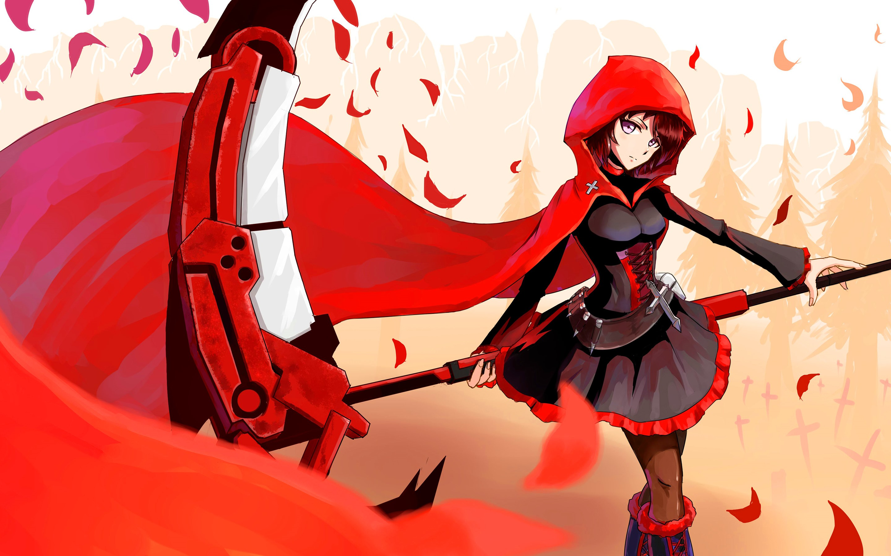 Wallpaper Little Red Riding Hood Anime Girl 2880x1800 Hd Picture Image