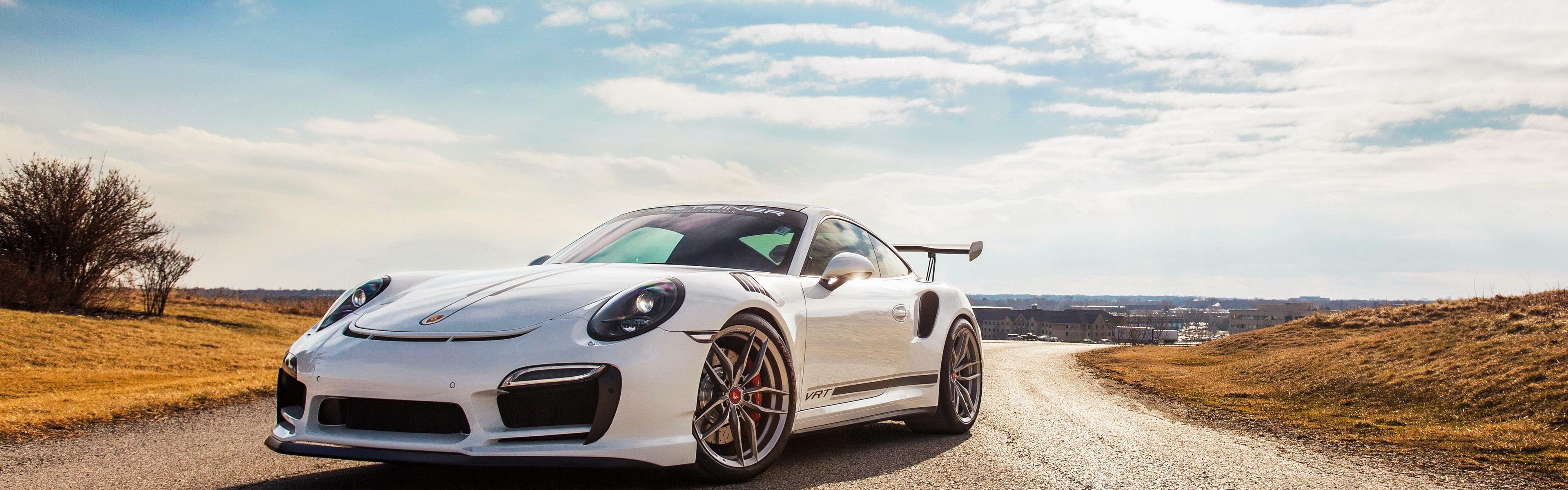 Wallpaper Porsche 911 Turbo V Rt White Supercar 3840x2160