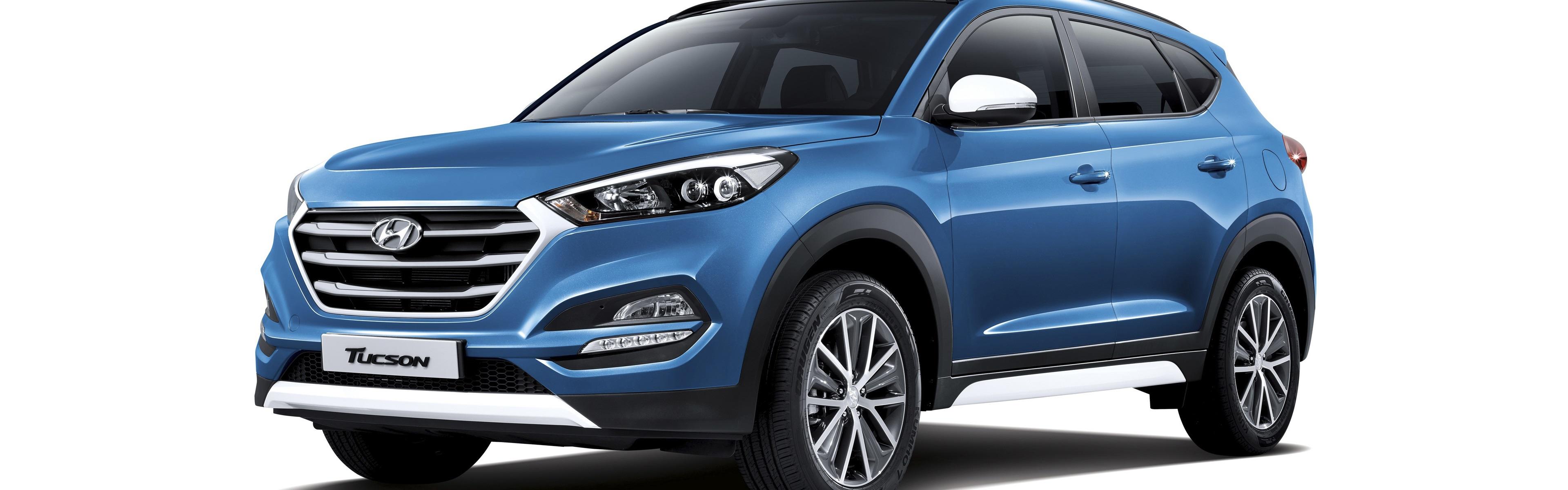 Hyundai Elantra Coupe >> Wallpaper Hyundai Tucson blue SUV car 3840x2160 UHD 4K Picture, Image