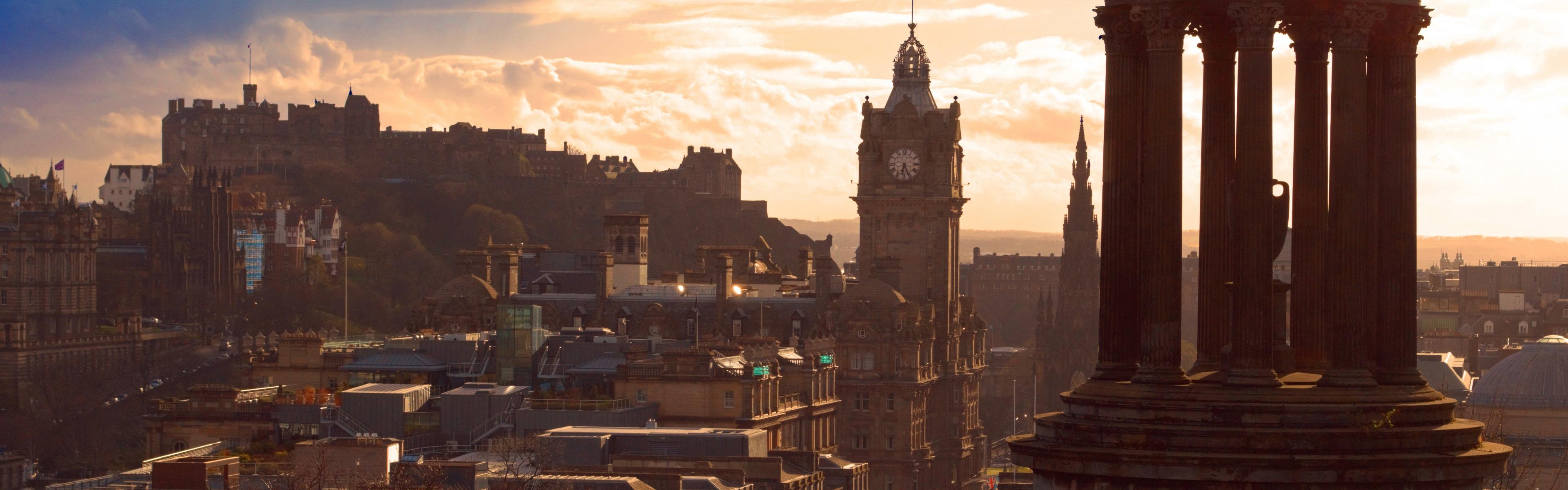 Обои Облака, эдинбург, Шотландия, свет, дома. Города foto 8