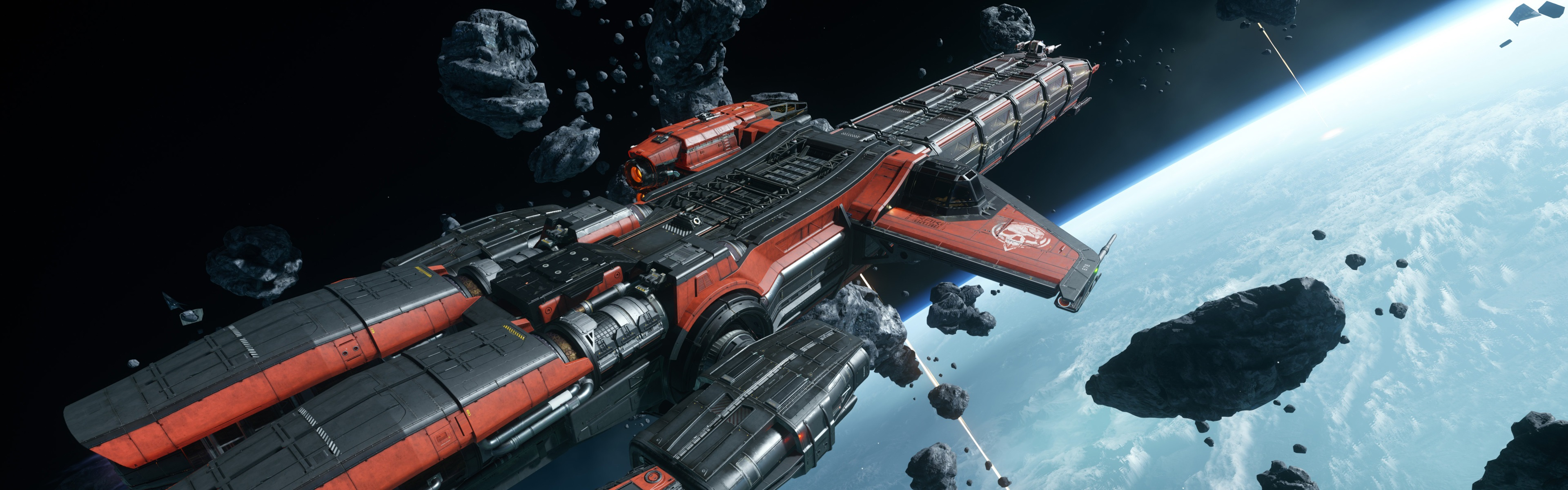 Download wallpaper 3840x1200 star citizen starship space - Space wallpaper 3840x1200 ...