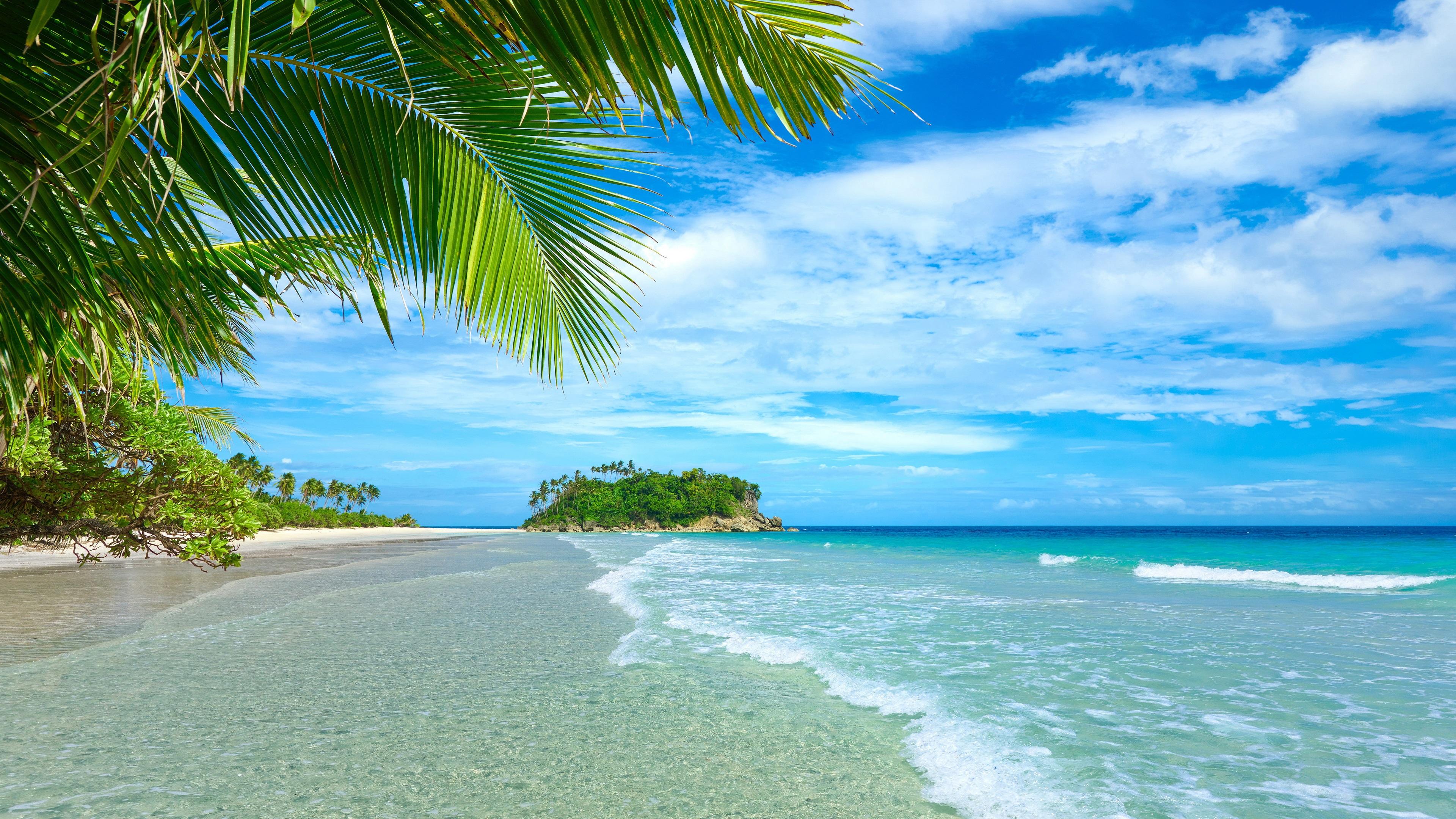 Fondos De Pantalla Mar Azul Y El Cielo, Playa, Costa