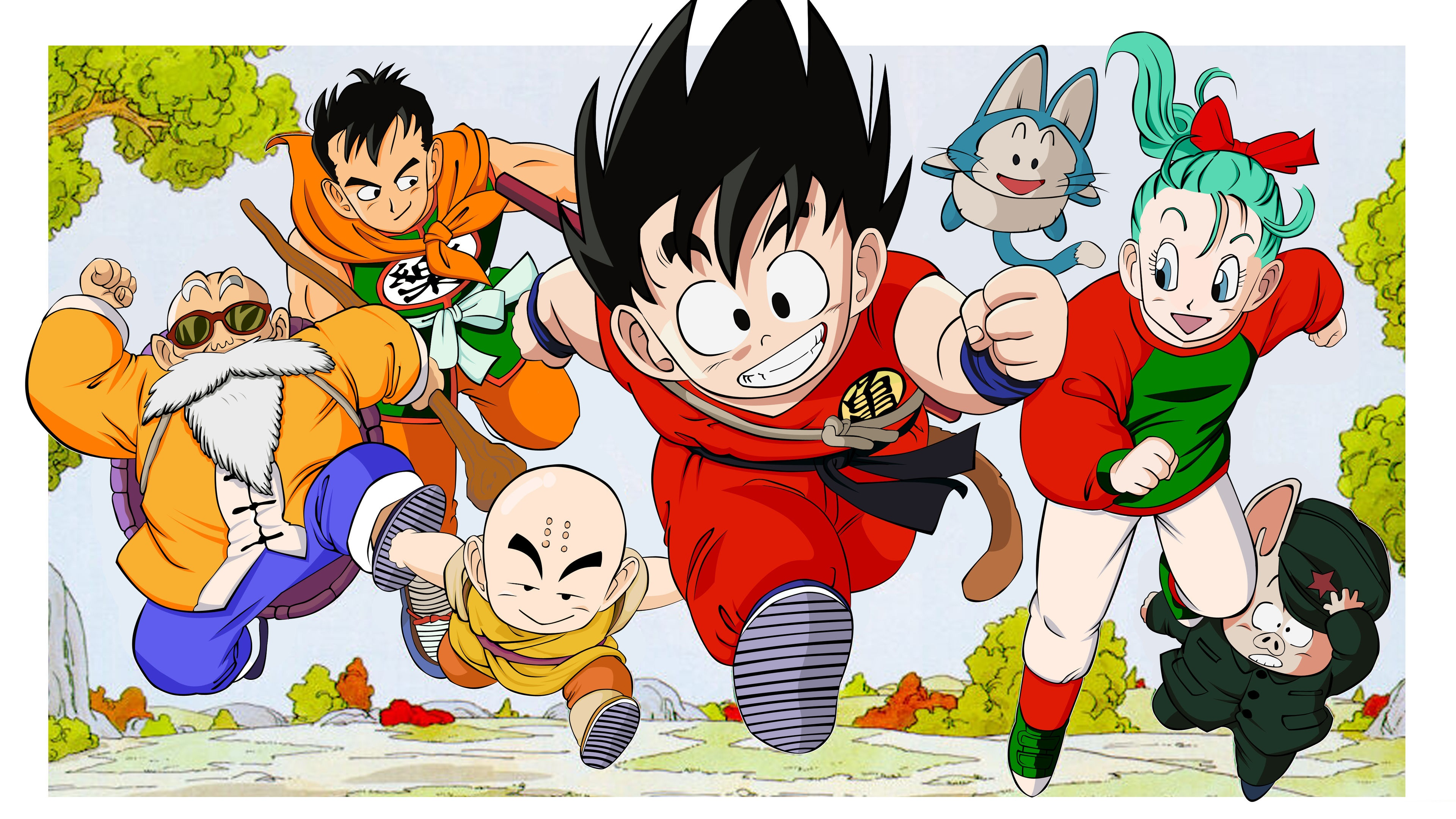 Download Wallpaper 3840x2160 Dragon Ball Classic Anime