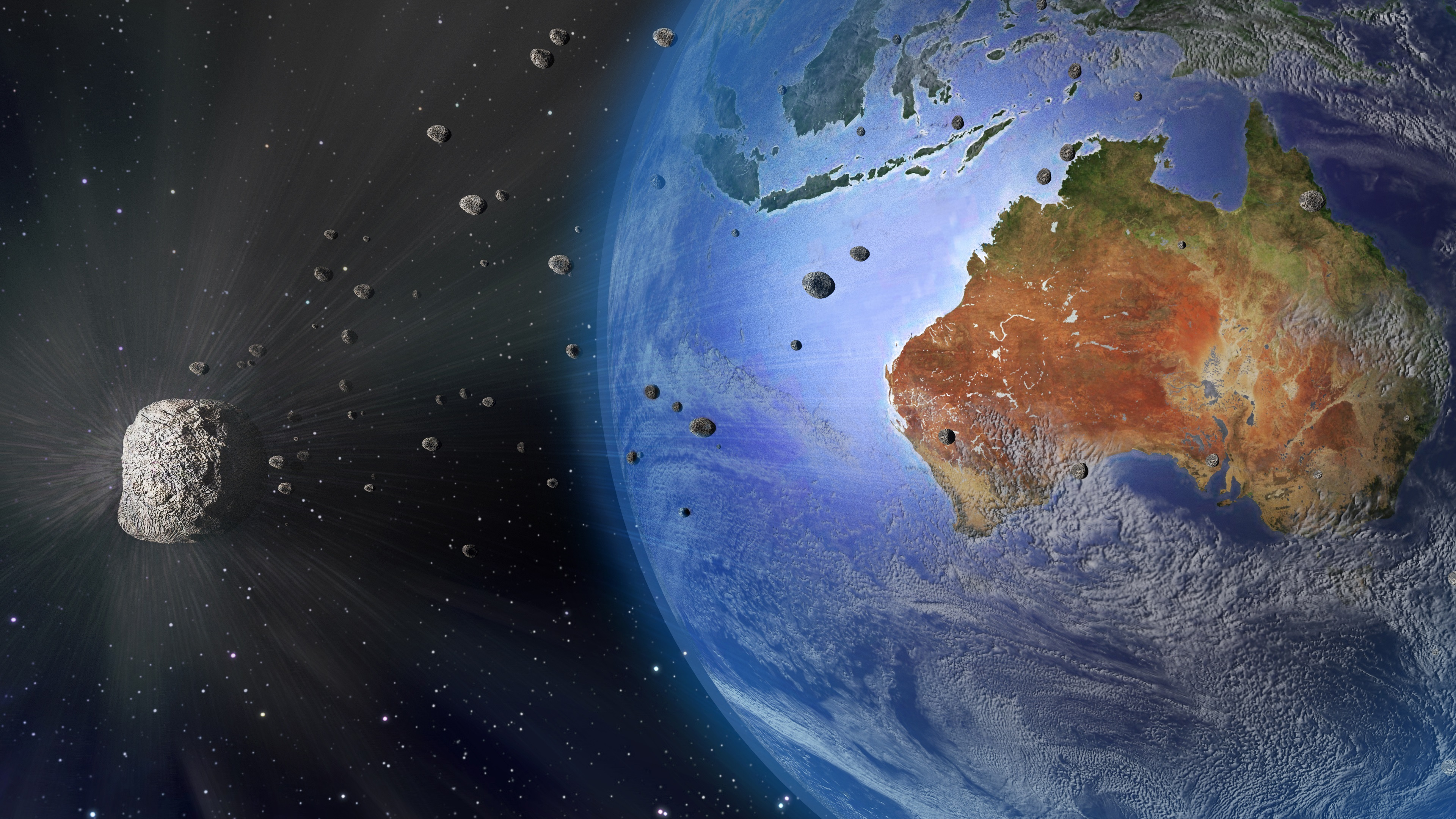 Wallpaper Earth, Australia, meteorite, space 3840x2160 UHD