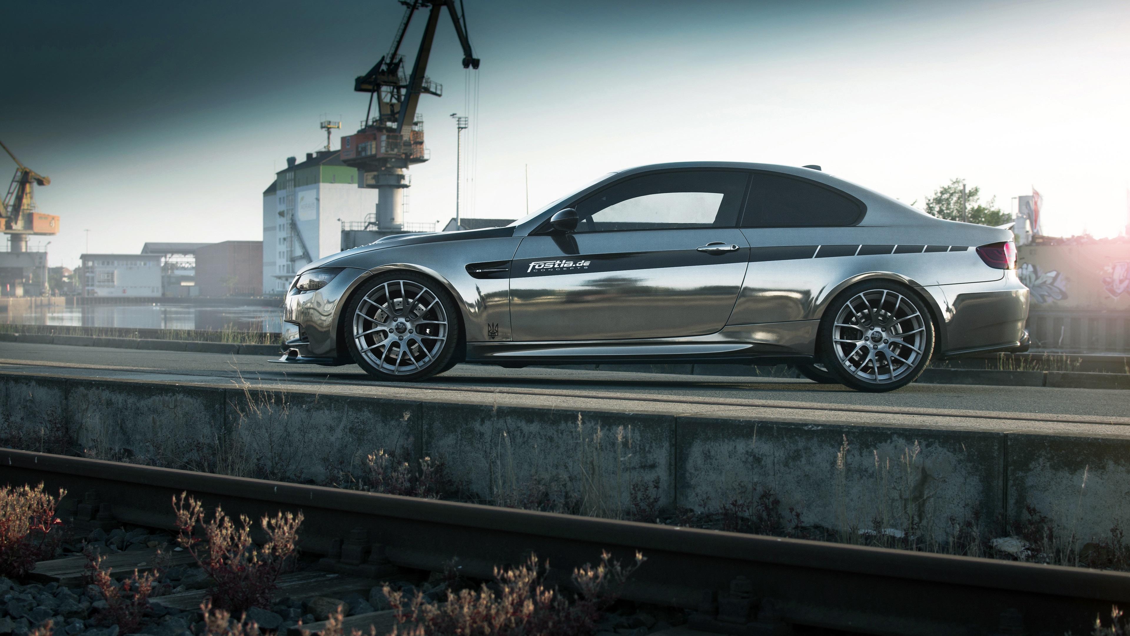 Wallpaper Fostla BMW M3 E92 Coupe Side View 3840x2160 UHD 4K Picture