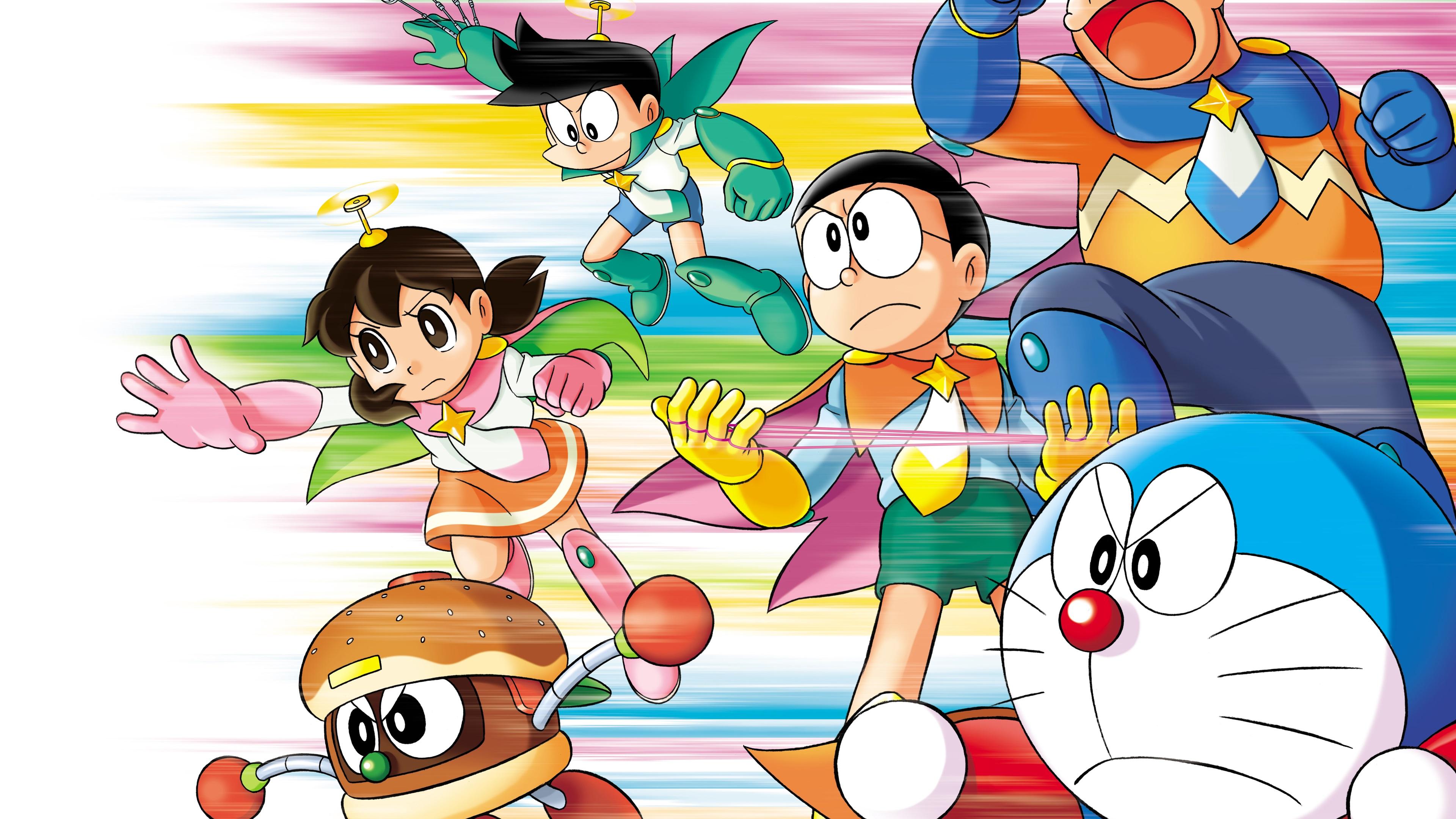 Wallpaper Japanese anime, Doraemon 3840x2160 UHD 4K ...