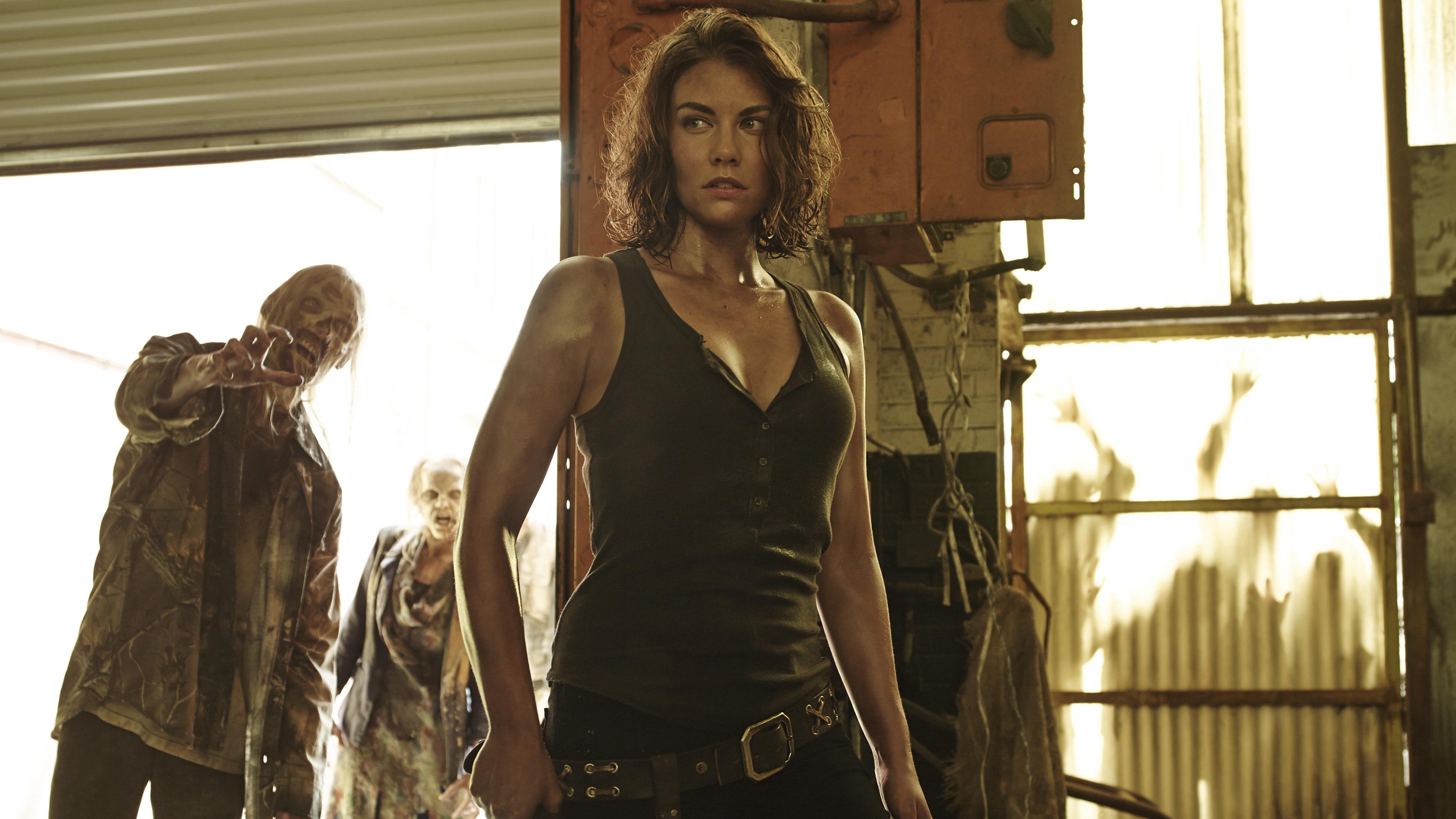 Wallpaper Lauren Cohan As Maggie Greene The Walking Dead Season 5