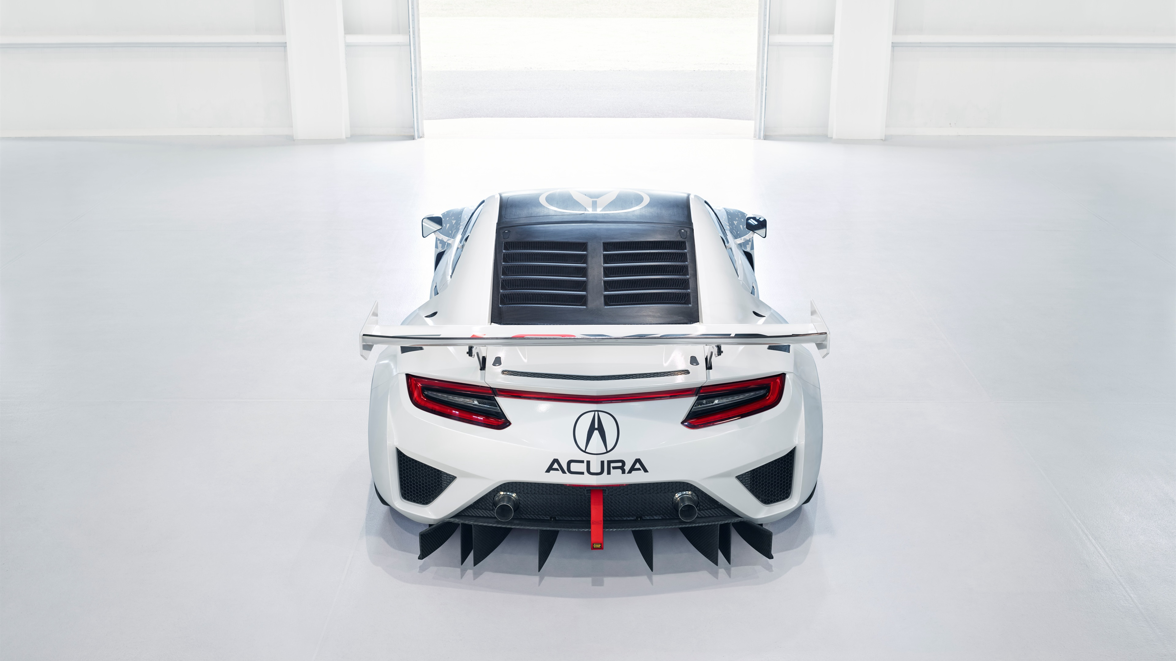 Wallpaper Acura NSX GT3 supercar back view 3840x2160 UHD 4K