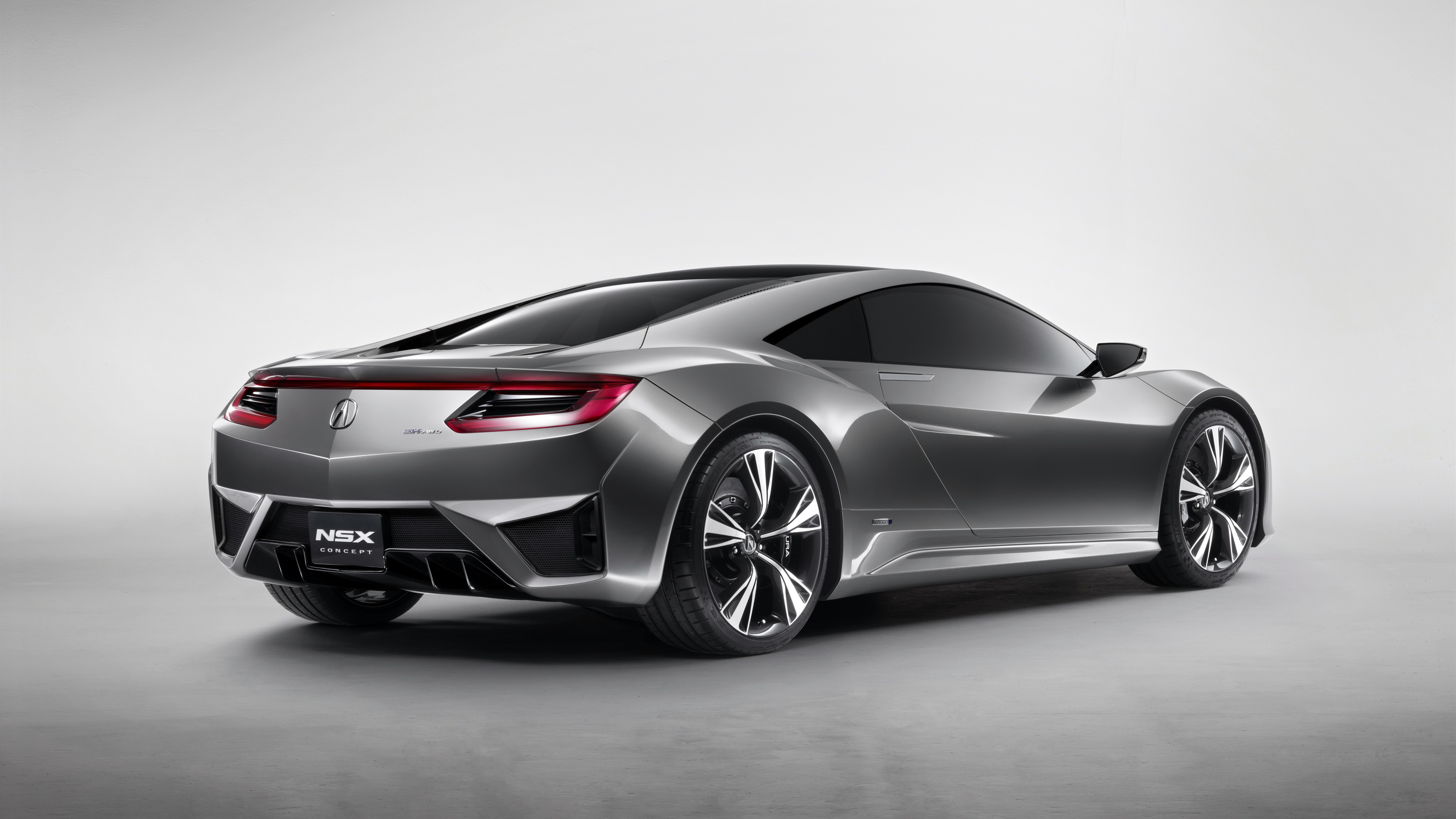 Wallpaper Acura NSX concept car back view 3840x2160 UHD 4K
